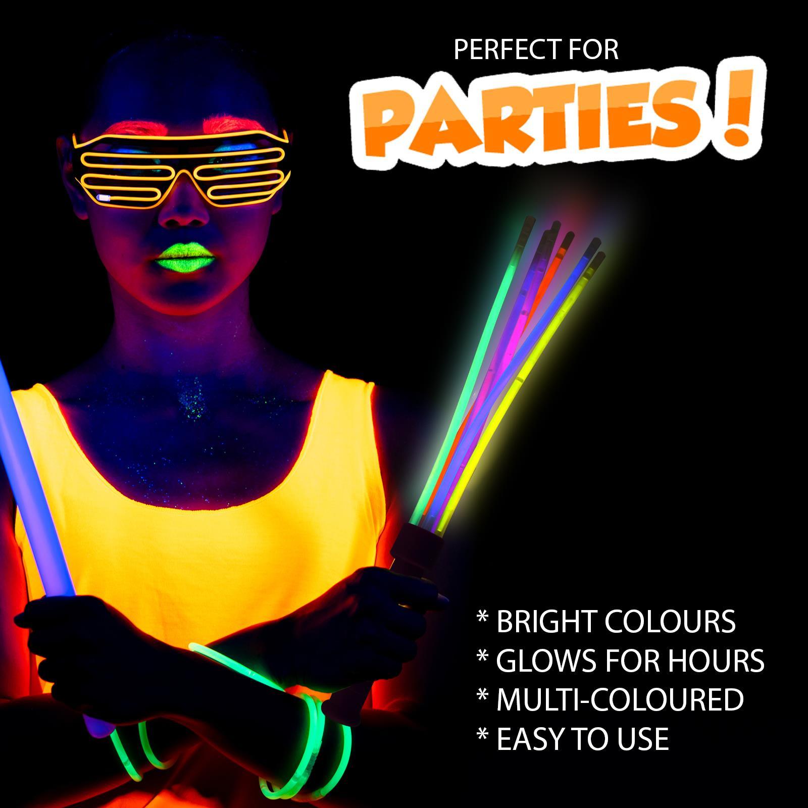 NUOVO Colorato BASTONCINO luminoso incandescente Masquerade Costume Festa Di Notte