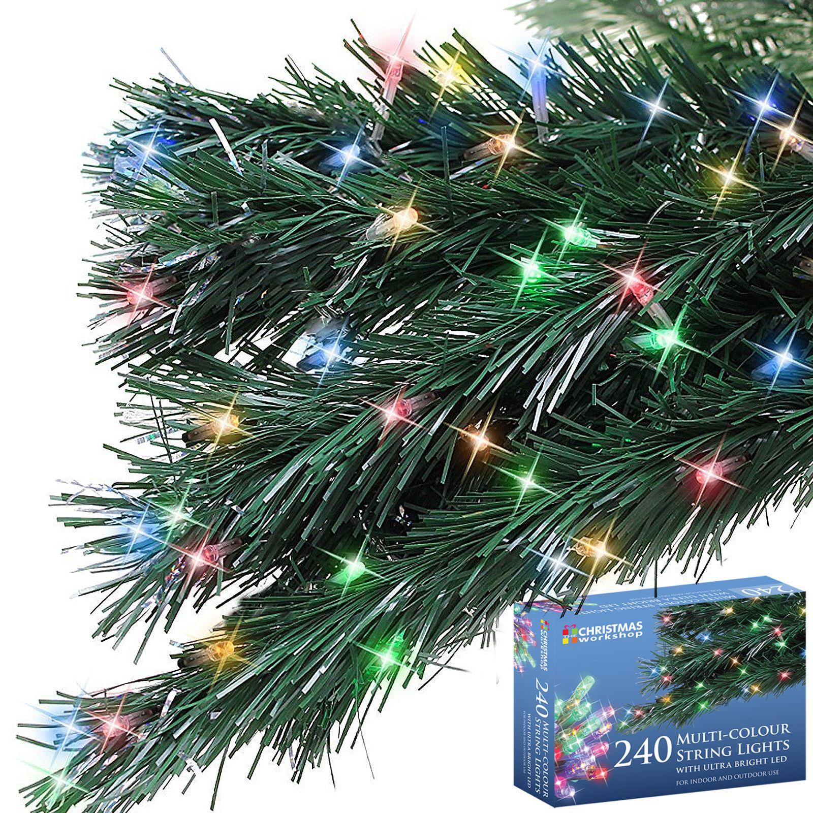 240 Bright LED String Christmas Light Static Xmas Tree Window Decoration Festive