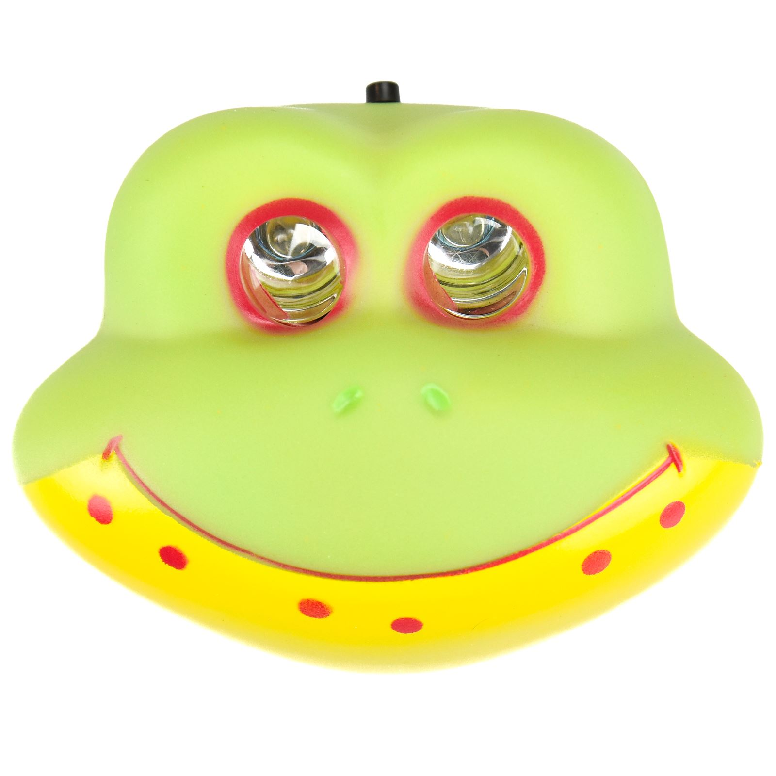 Kids Children 2 LED Animal Head light Lamp Torch Ultra Bright Frog Lion Monkey