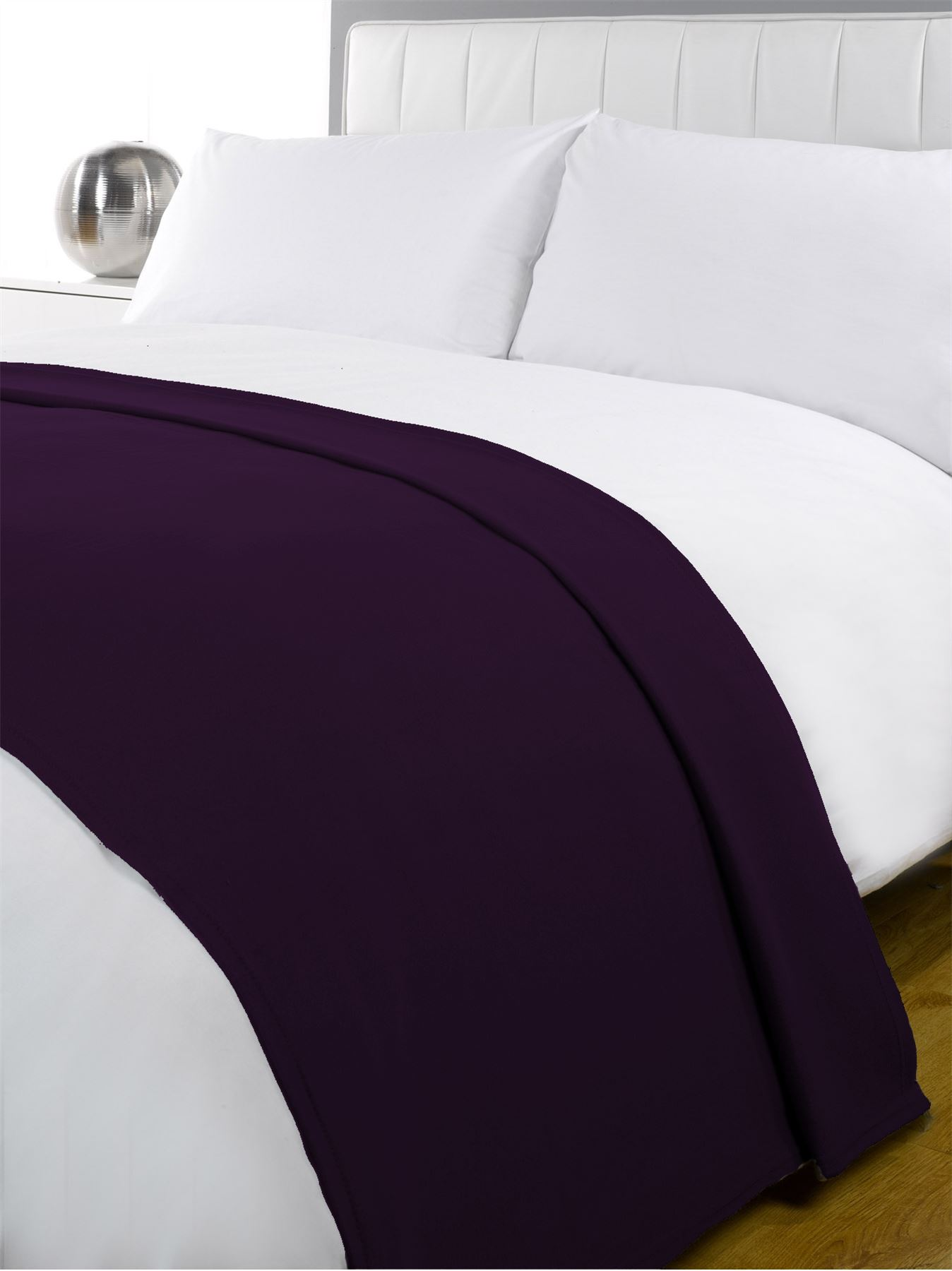 New Luxury Soft Fleece Blanket Warm Sofa Throw Single Double Bed Super Colours