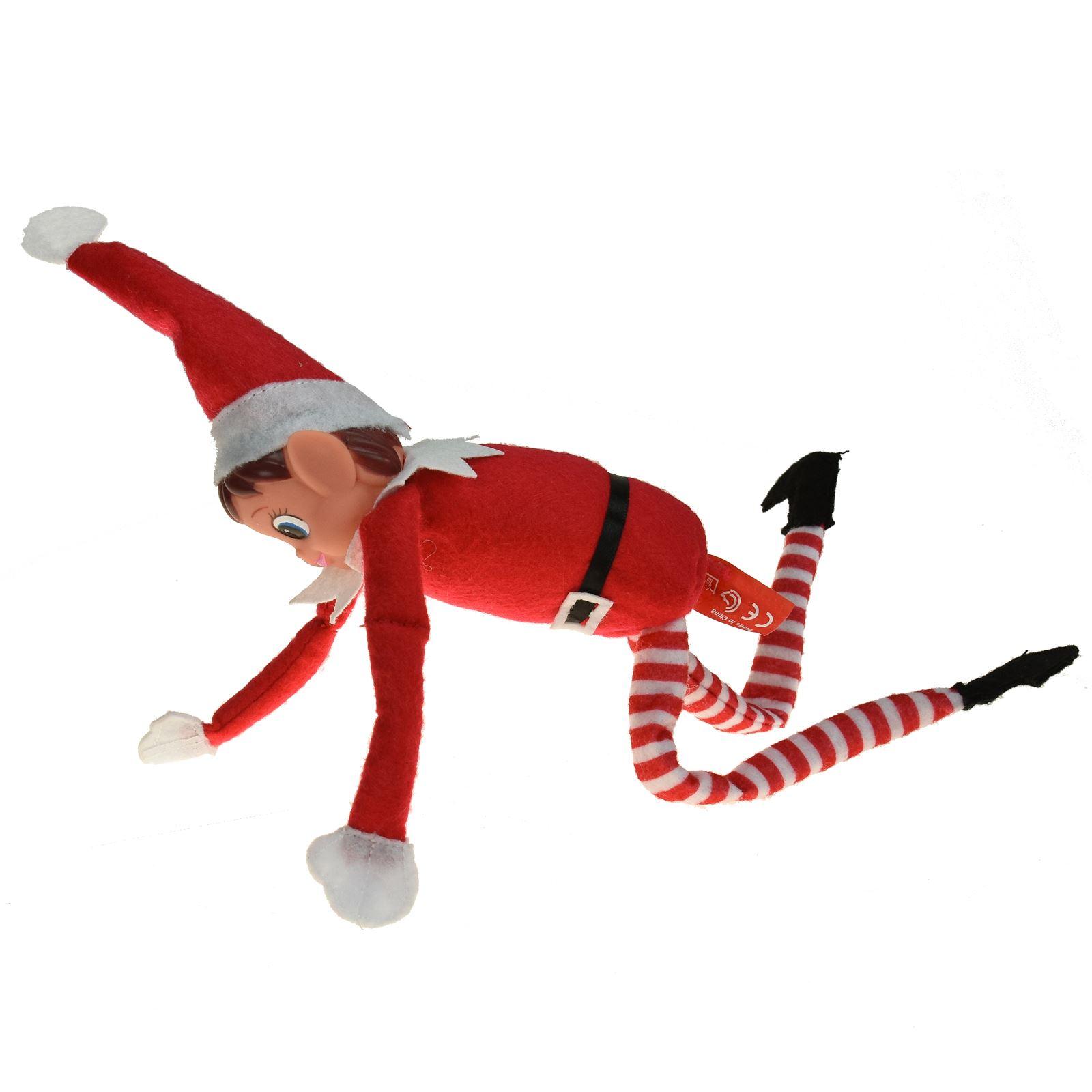 Noël Helper ELF Style Souple Plush Doll Boy Girl Figure Nouveauté de Noël Enfant