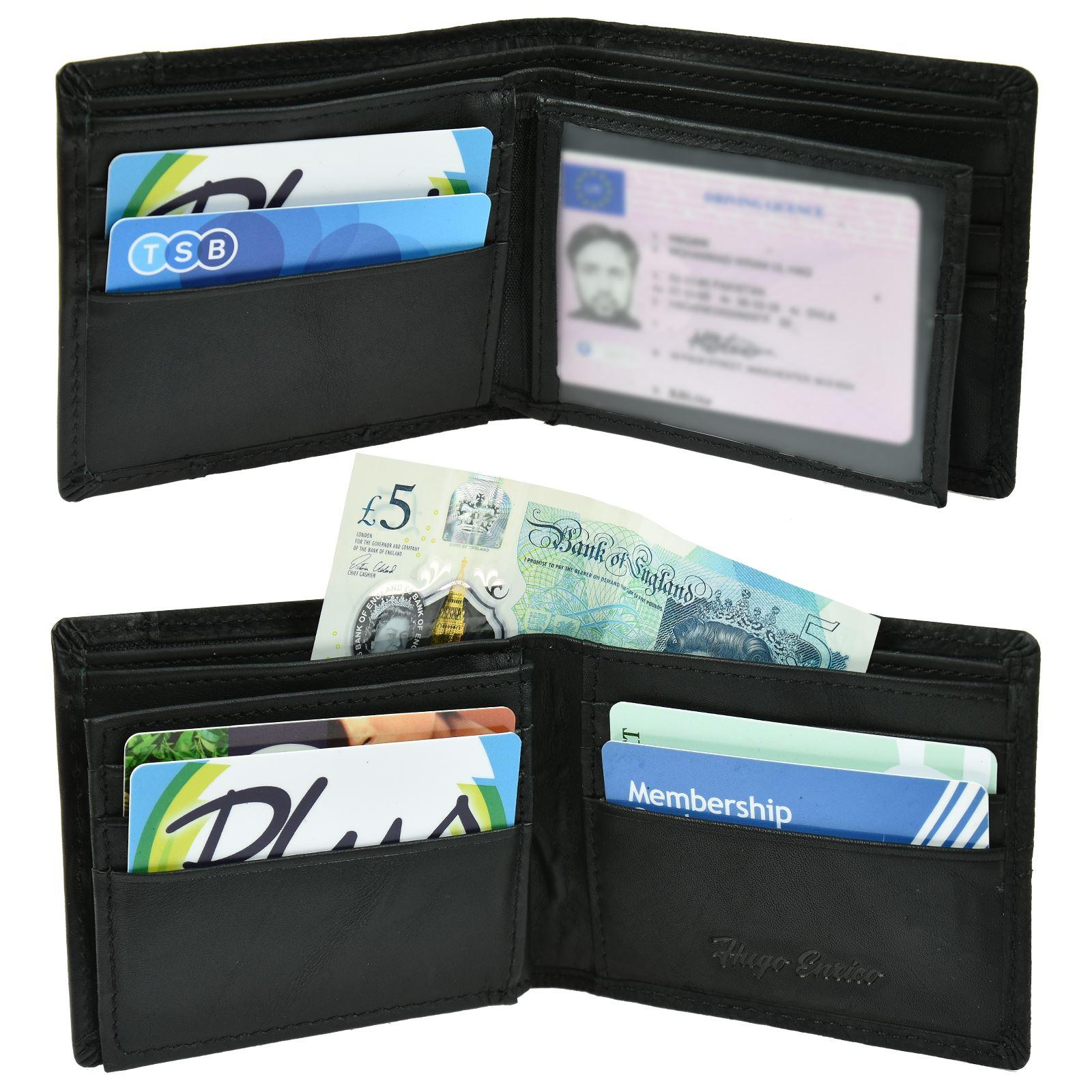 Portafoglio Bifold Linea Uomo Lusso Vera Pelle Coin Pouch titolare carta di credito soldi