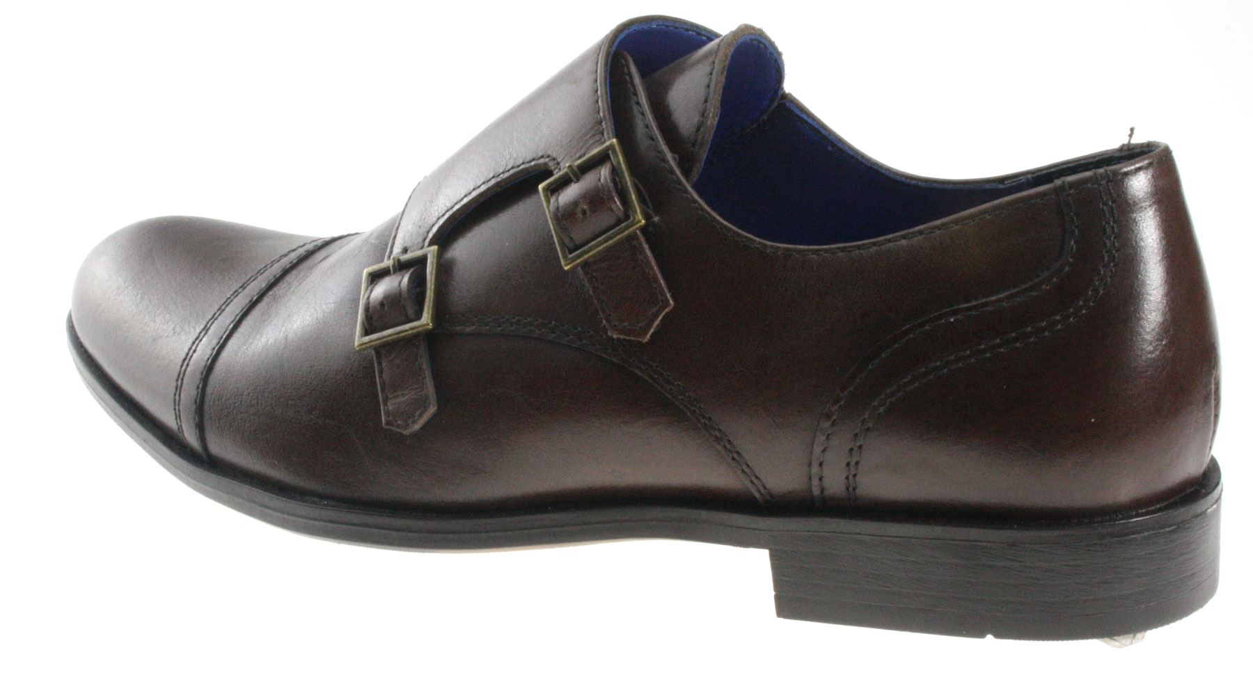 Mens Red Tape Monk Double Strap Real Leather Shoes