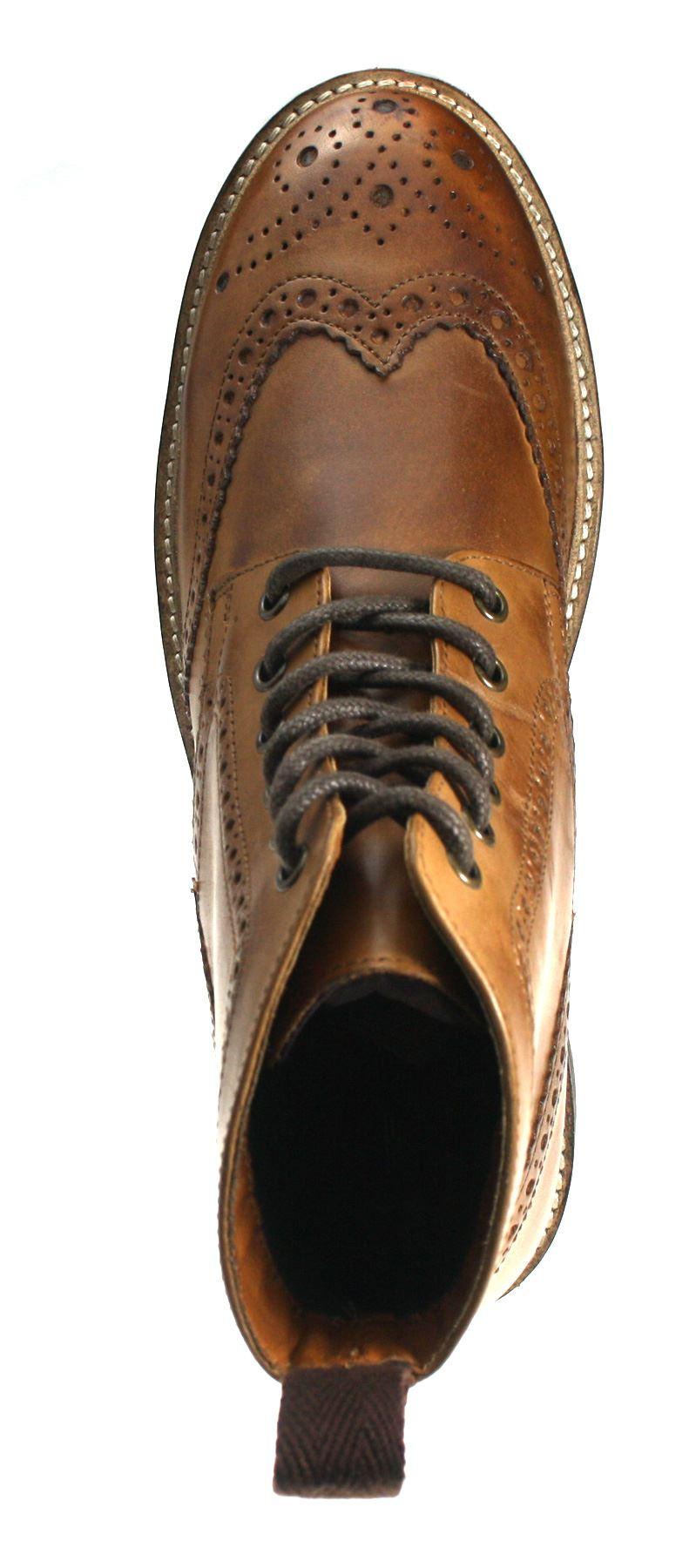 Rouge Tape devlin haute qualité verrouillées en cuir véritable lacets richelieu à homme bottes