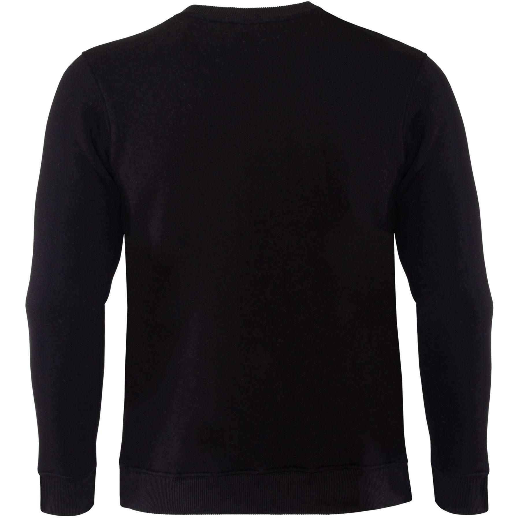 NUOVA linea uomo Felpa Plain Fleece Crew maglione a girocollo Lavoro Felpa Pullover Maglia Jersey