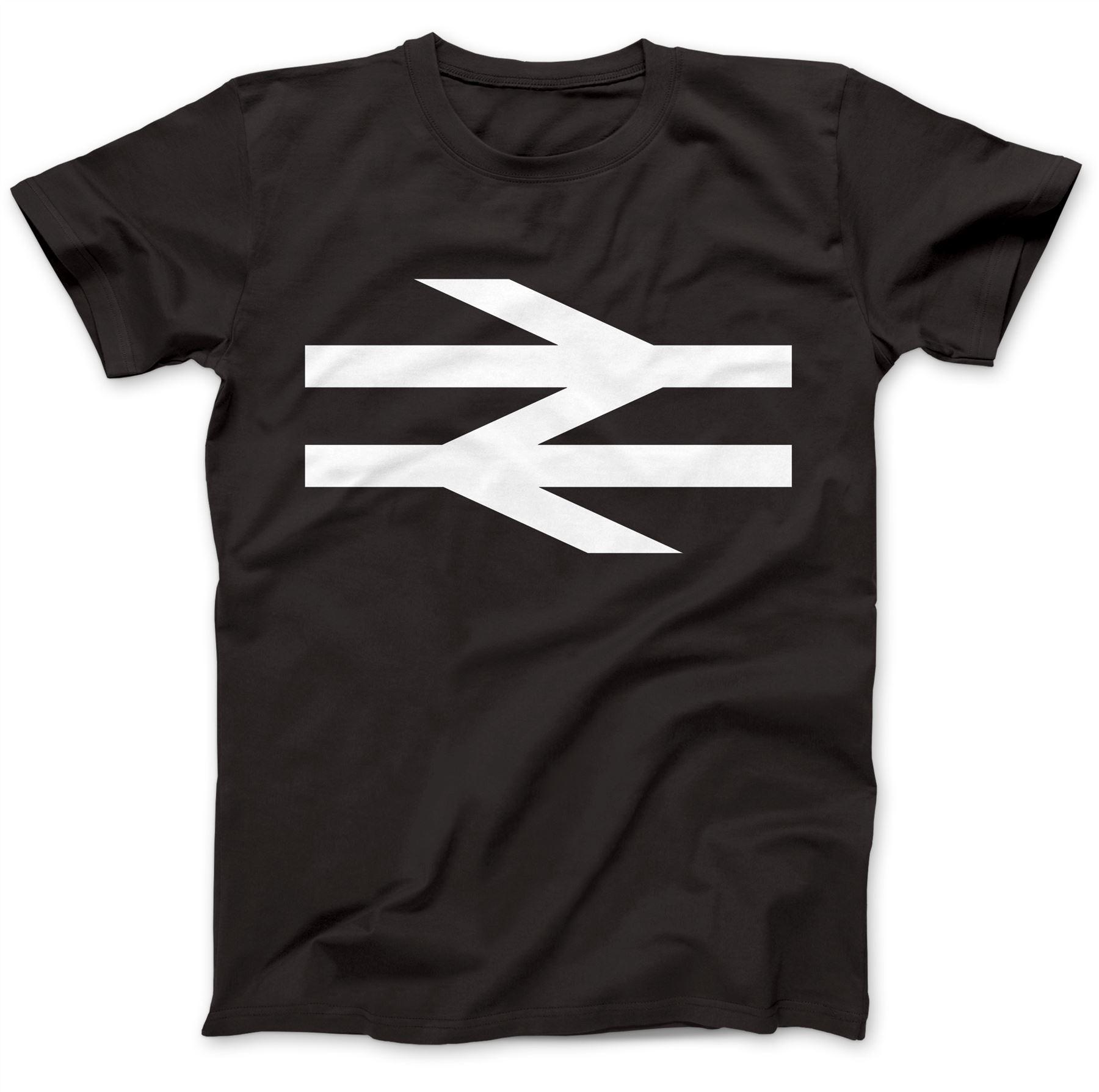 British Rail As Worn By Damon Albarn T-Shirt 100/% Premium Cotton Arrows Train