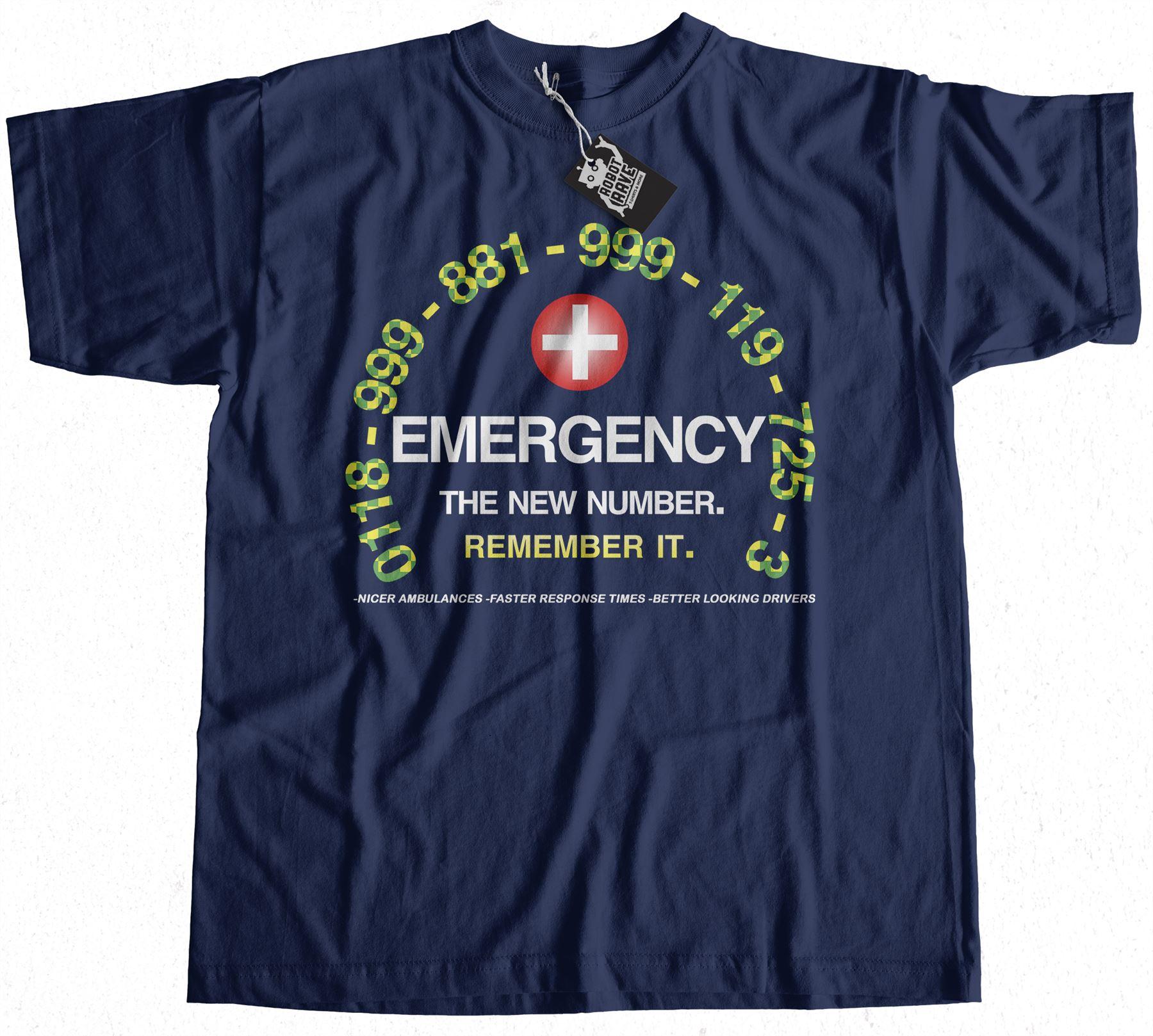 IT Crowd Inspired Emergency T-Shirt 100/% Premium Cotton