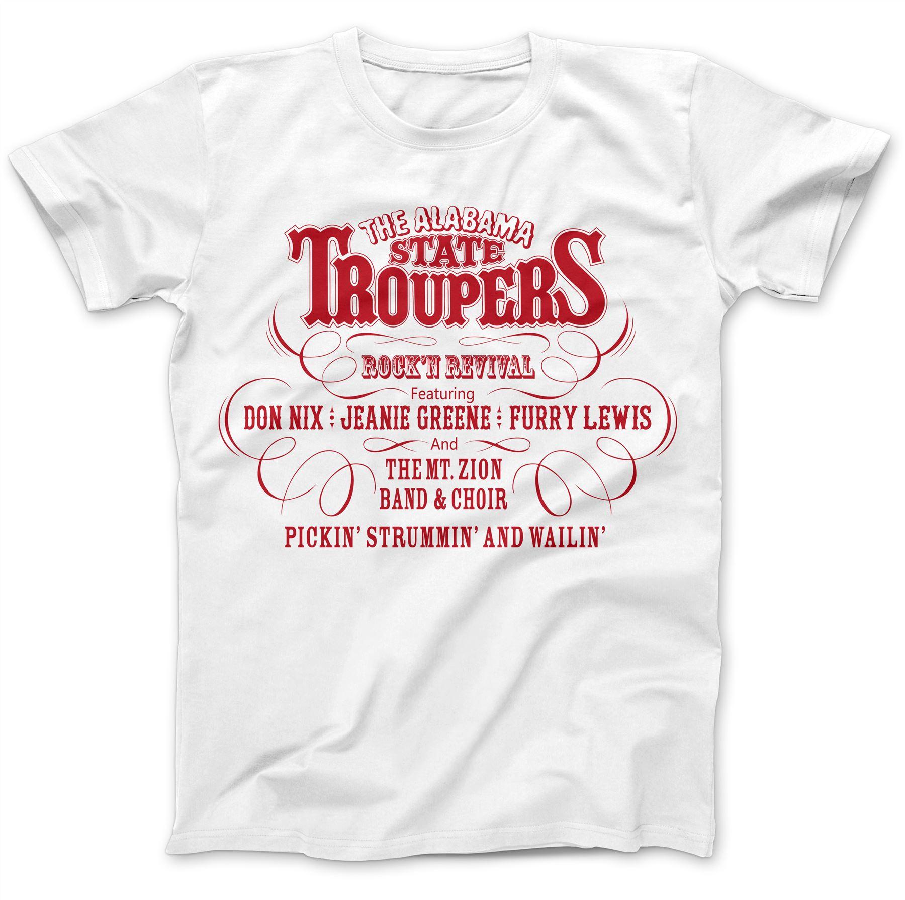 Estado de Alabama Troupers Camiseta 100/% Algodón Premium Usado Por John Paul Jones