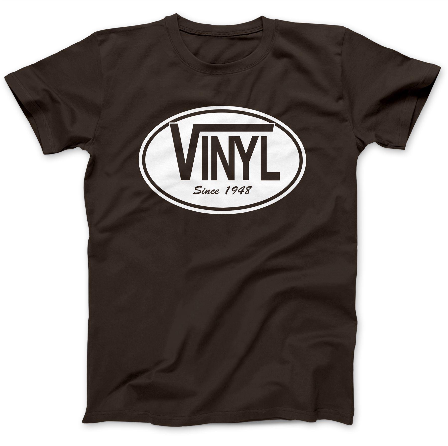 Vinyl Since 1948 Record DJ T-Shirt 100/% Premium Cotton Gift Present