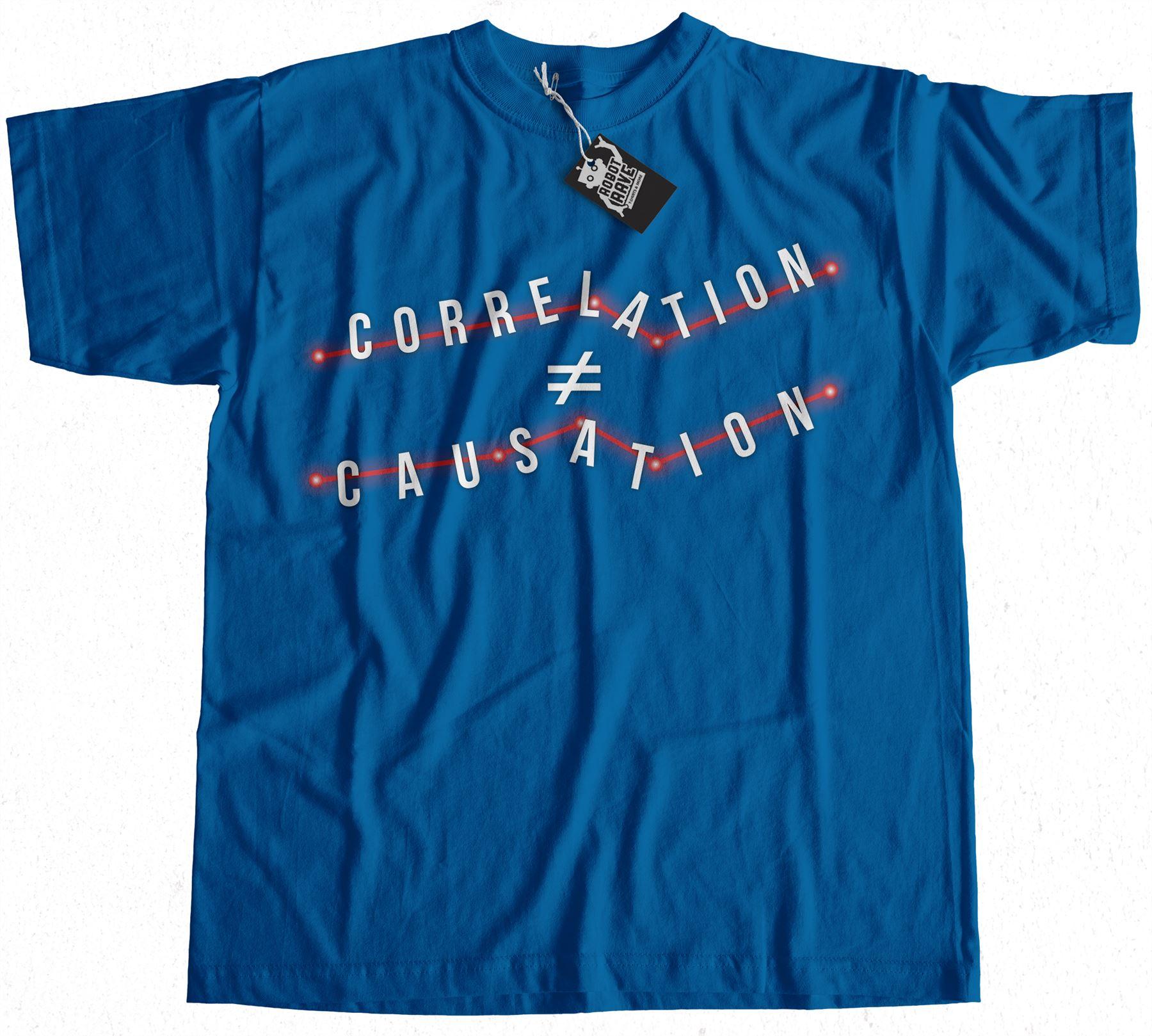 Corrélation n/'est pas causalité T-shirt 100/% Premium Coton