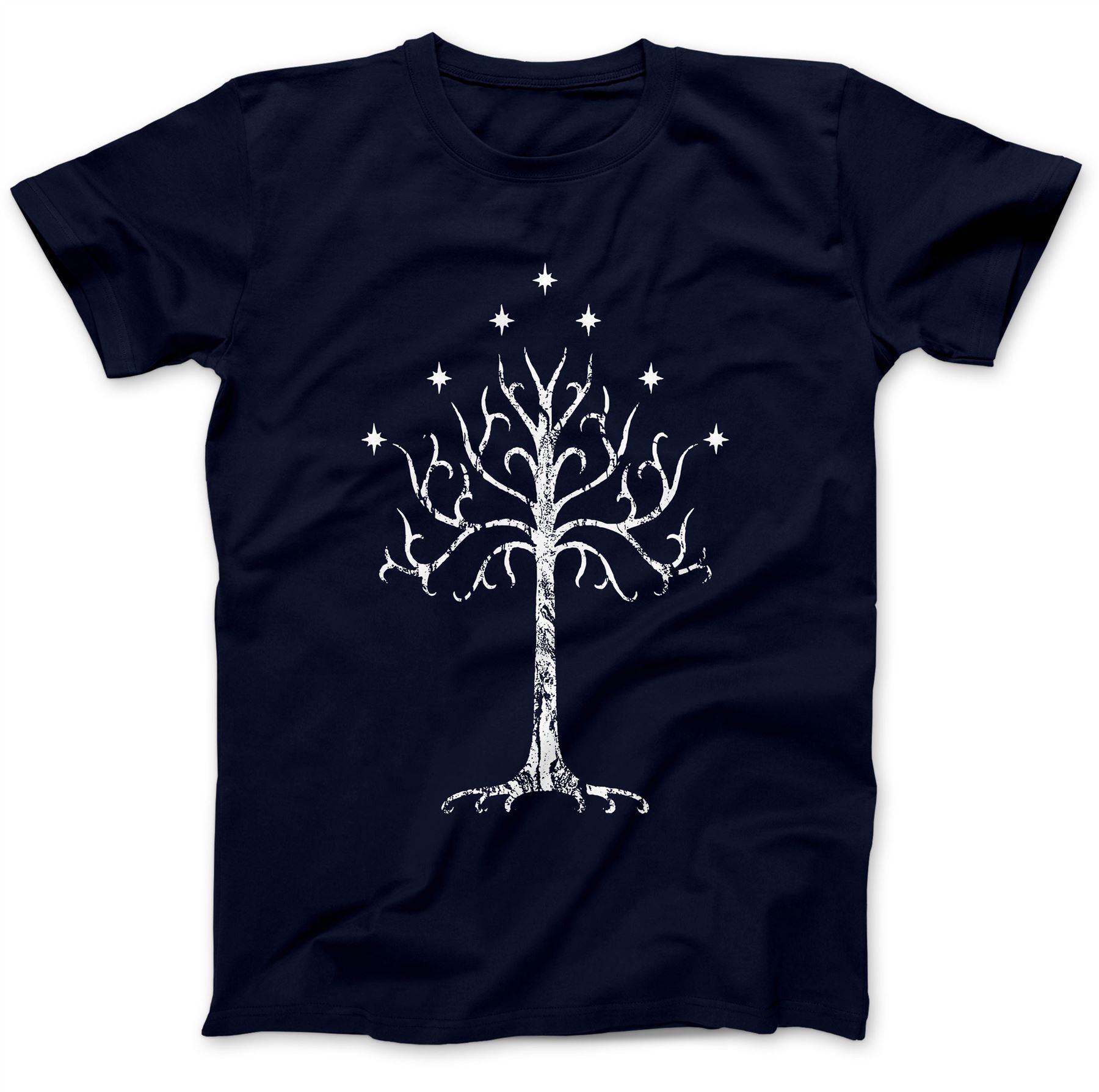 White Tree Of Gondor Tolkien T-Shirt 100/% Premium Cotton Mordor Middle Earth