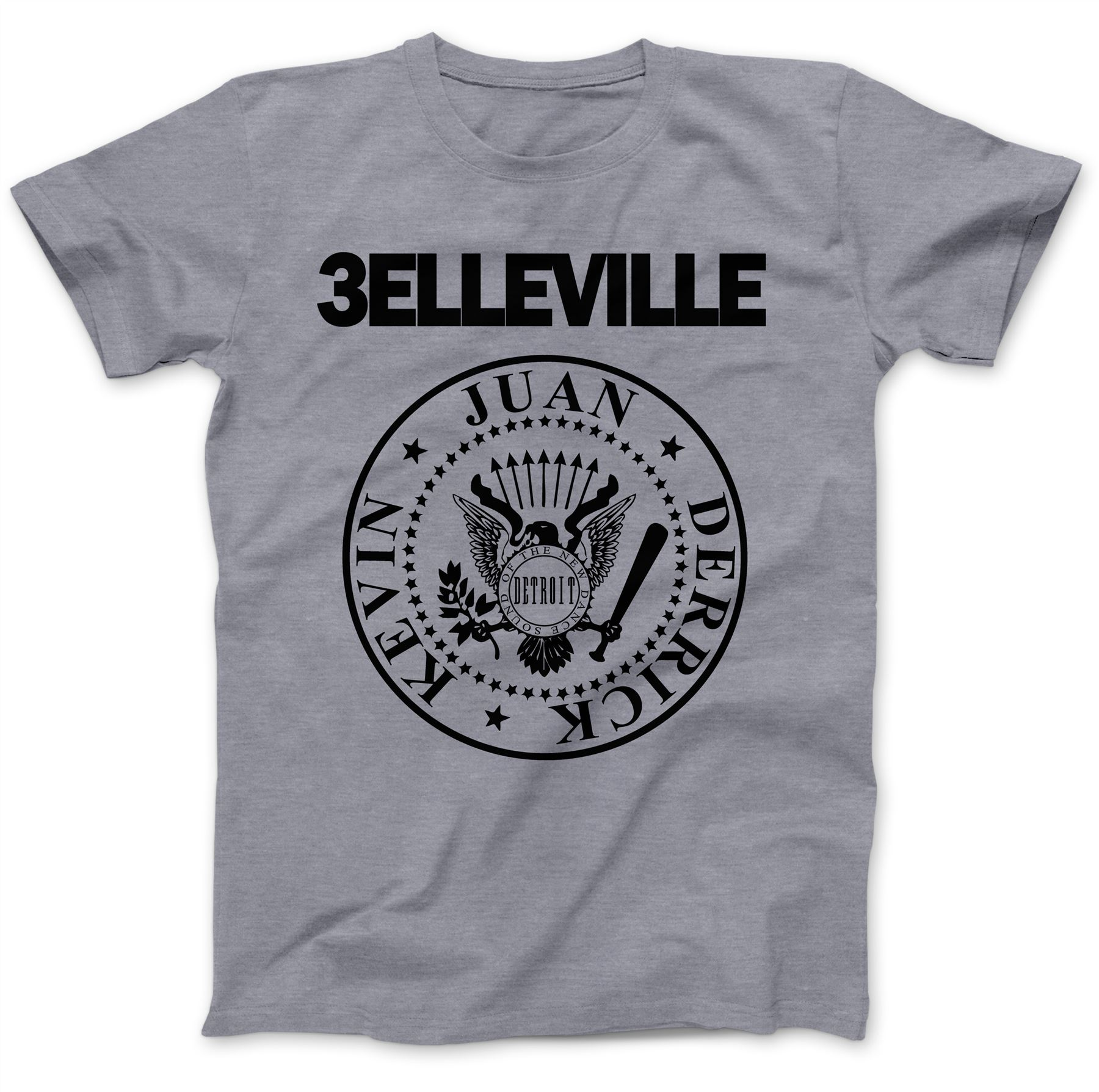 Belleville Three Detroit Techno T-Shirt 100/% Premium Cotton