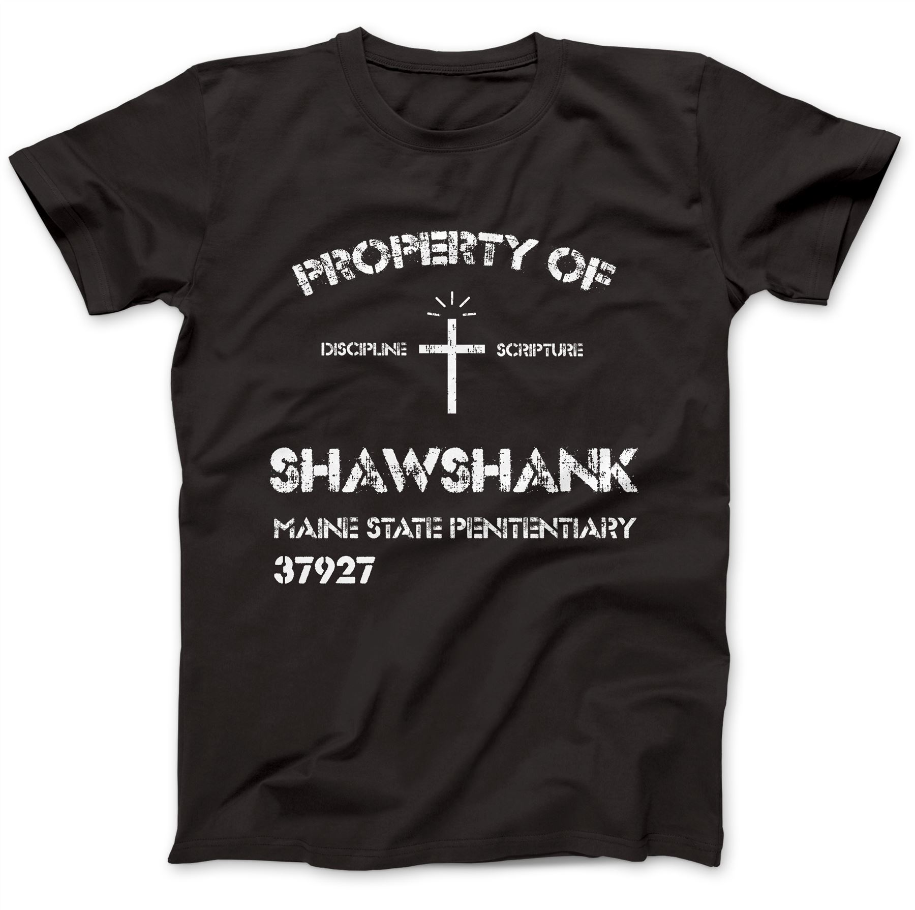 Shawshank Penitentiary T-Shirt 100/% Premium Cotton Redemption