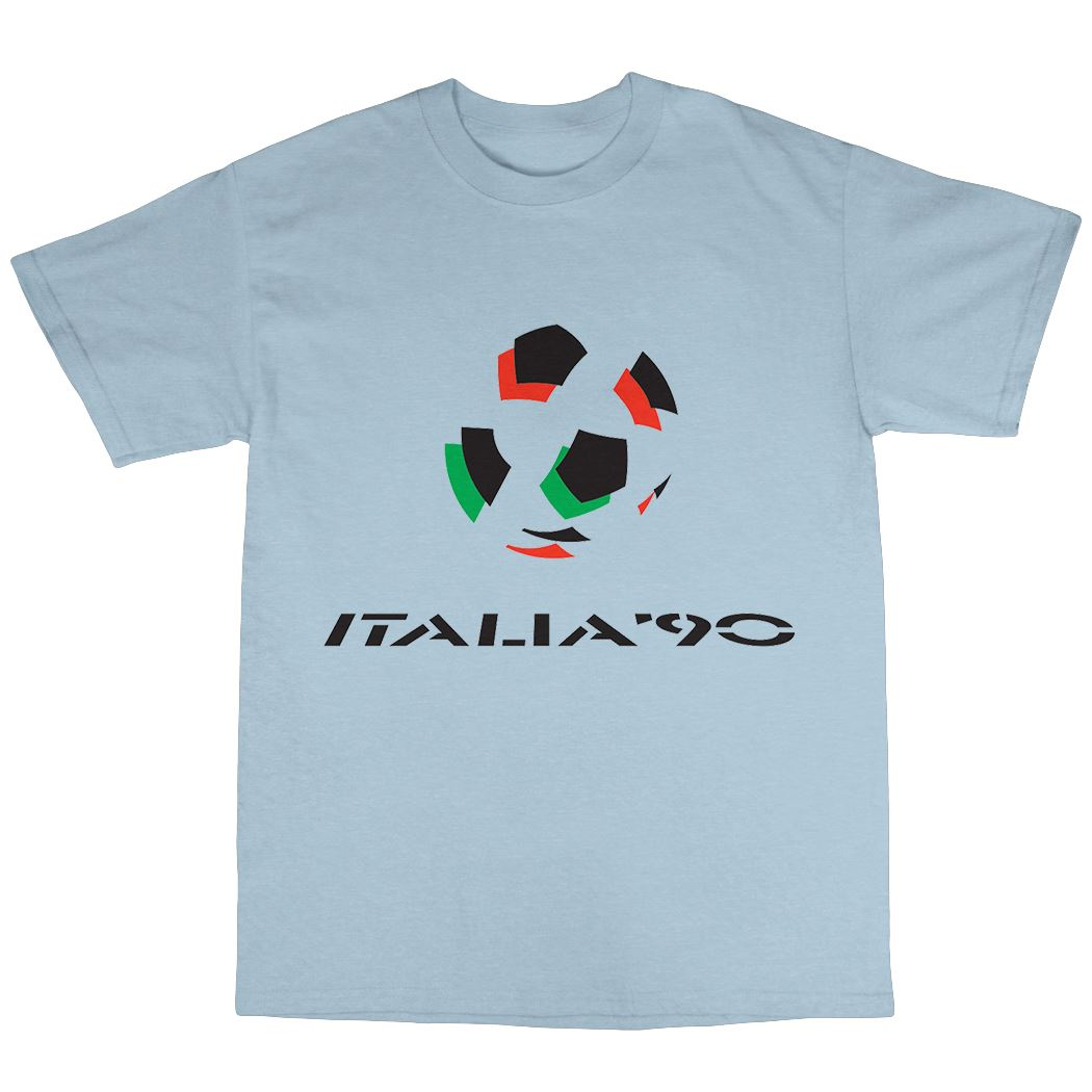 Italia 90 T-Shirt 100/% Cotton World Cup Football Fan FIFA Goal Spain