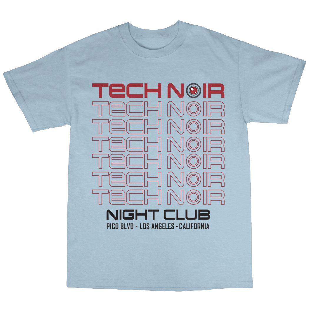 Tech Noir T-Shirt 100/% Cotton T-800 Cyborg Disco Sarah Connor Model 101