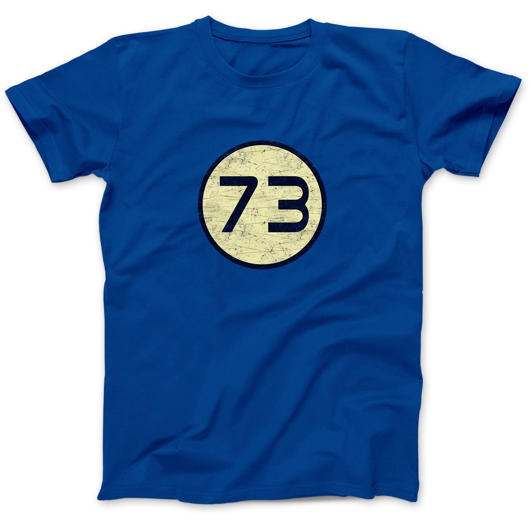 Number 73 T-Shirt 100/% Premium Cotton Sheldon