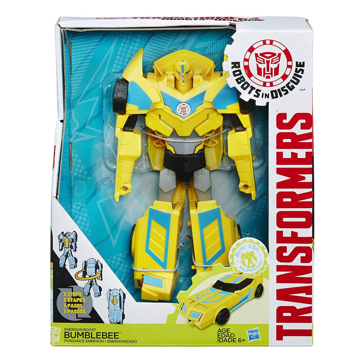 New Transformers Robots in Disguise 3-Step Bumblebee ou Bisk figure OFFICIEL