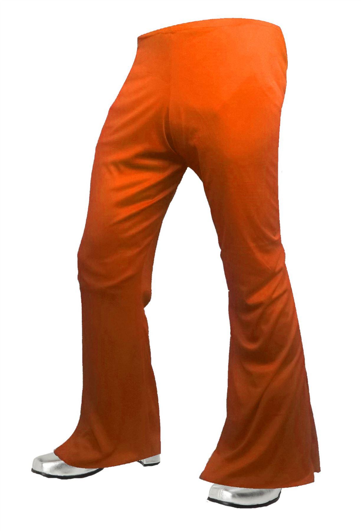1970s Disco Stu Pants Hippy High Rise Bell Bottom Flares Fancy Dress