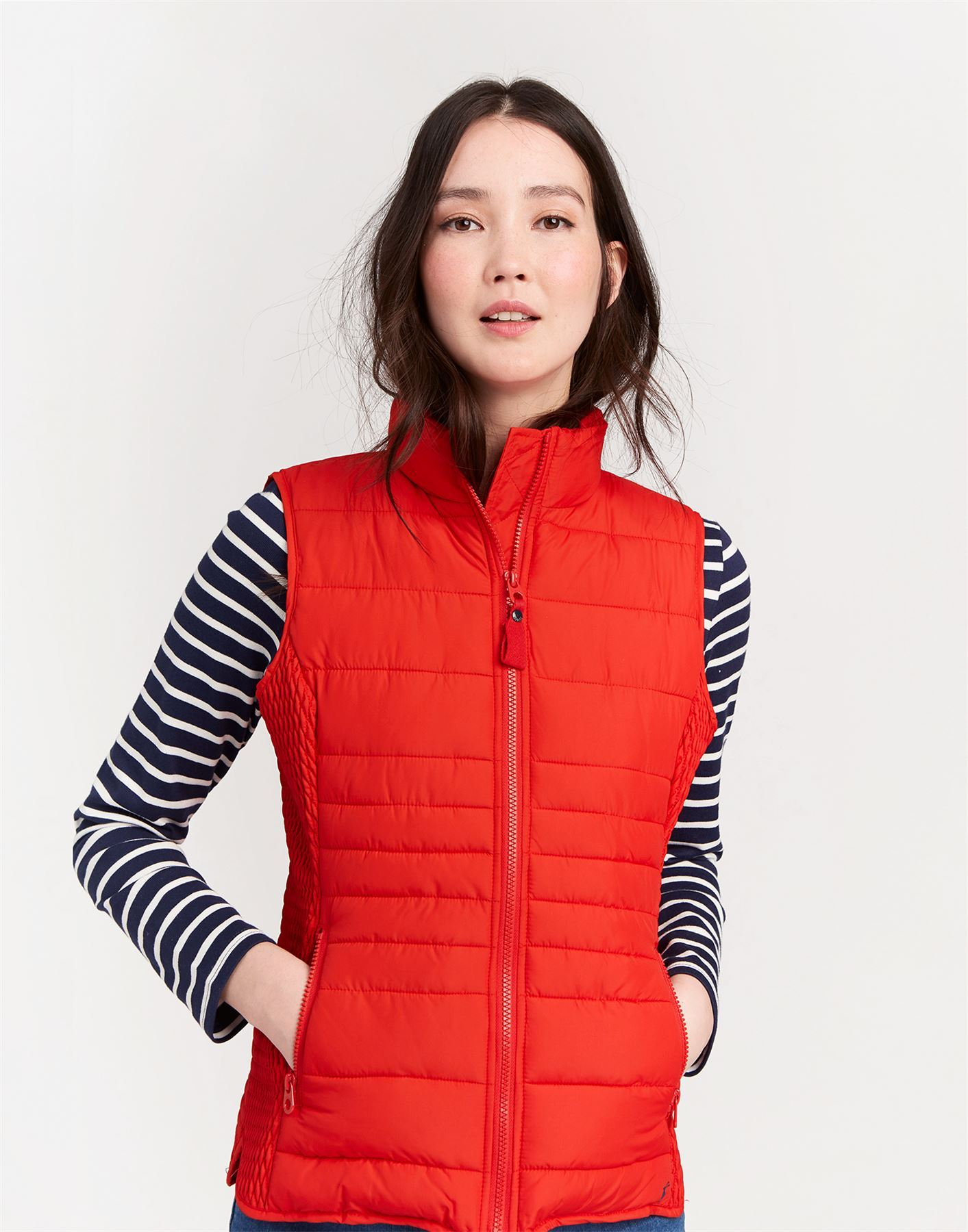 Joules Fallow Ladies Equestrian Winter Horse Riding New Padded Funnel Neck Gilet