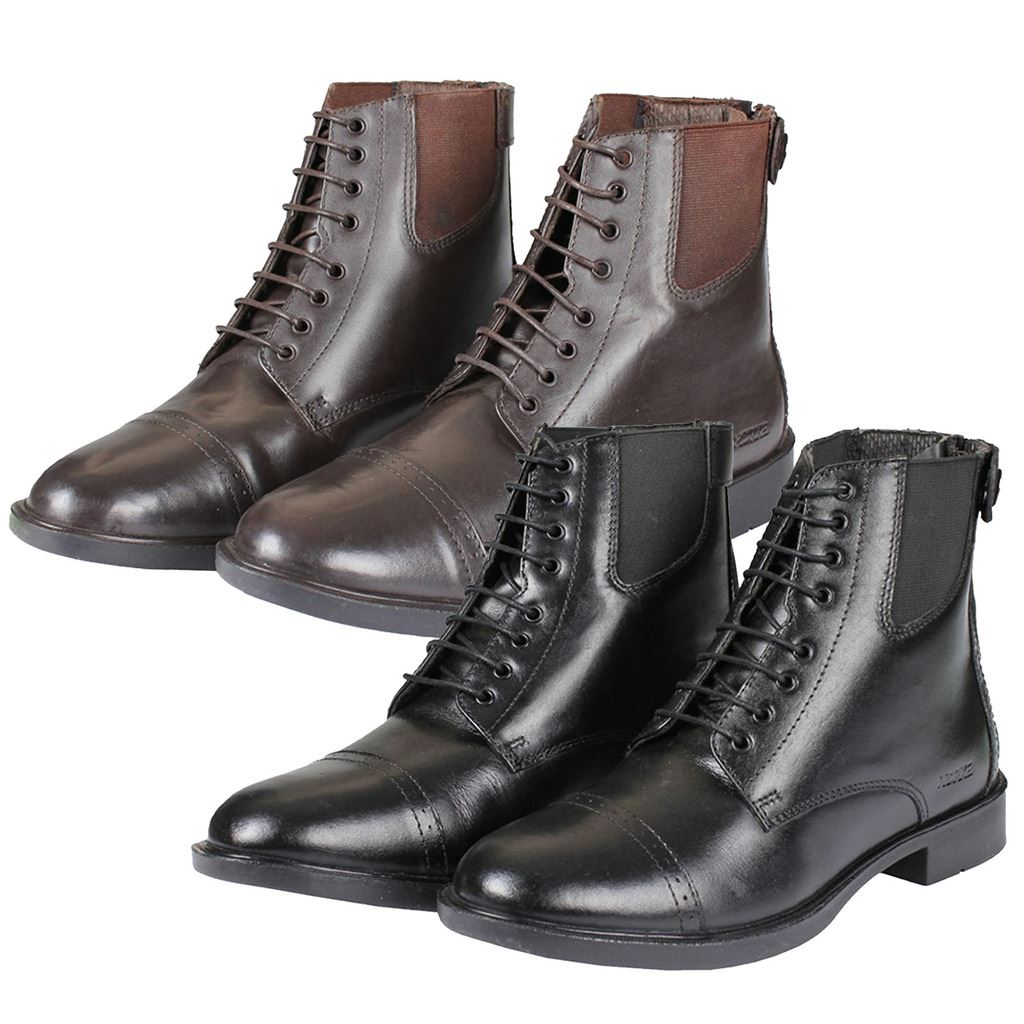 Horka Ladies Mens King Leather Front Zip Rubber Sole Jodhpur Horse Riding Boots