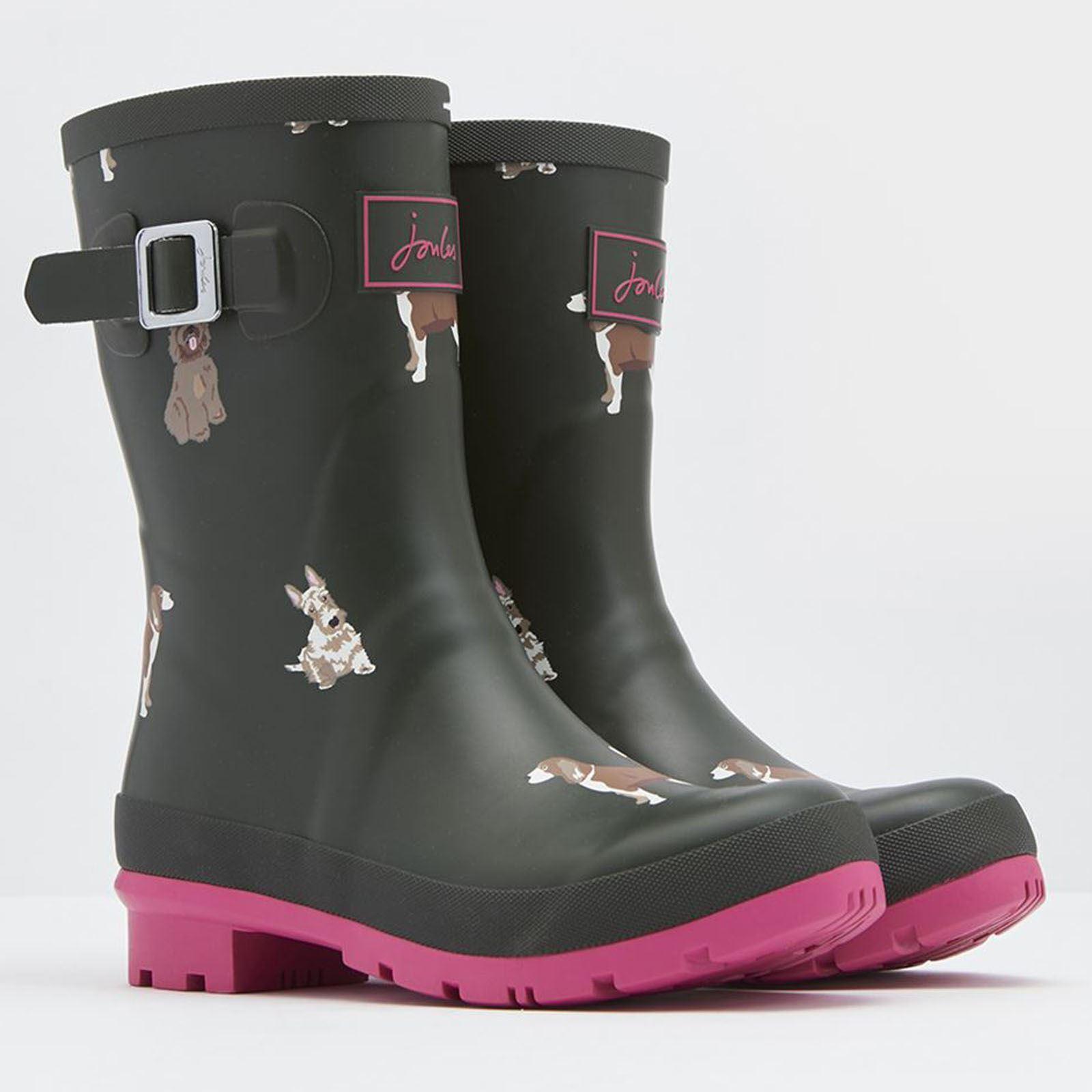 Joules Molly Imprimé Femmes Imperméable Yard Stable Caoutchouc Muck Wellington Boots