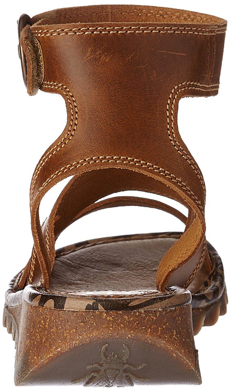 Fly London Tily 722FLY Femmes Lanière Gladiateur Style cuir des sandales compensées
