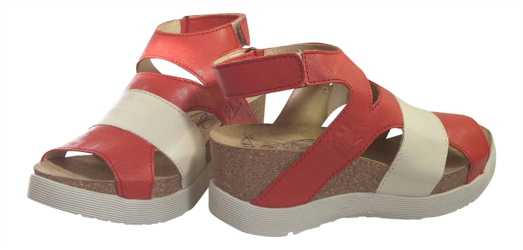 Fly London Ladies Wimi 896 Mousse Leather Upper /& Lined Strap Platform Sandals