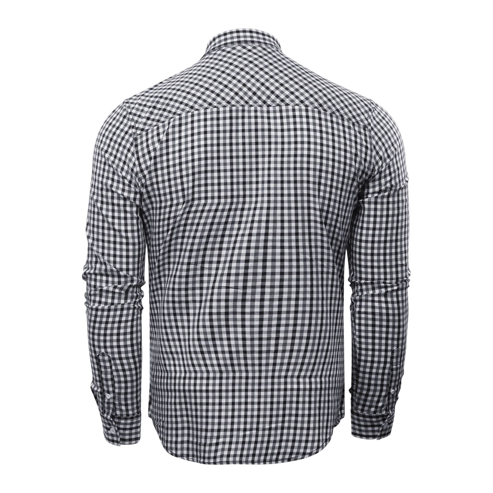 Crosshatch LARIX Mens Check camicia cotone manica lunga Top Casual