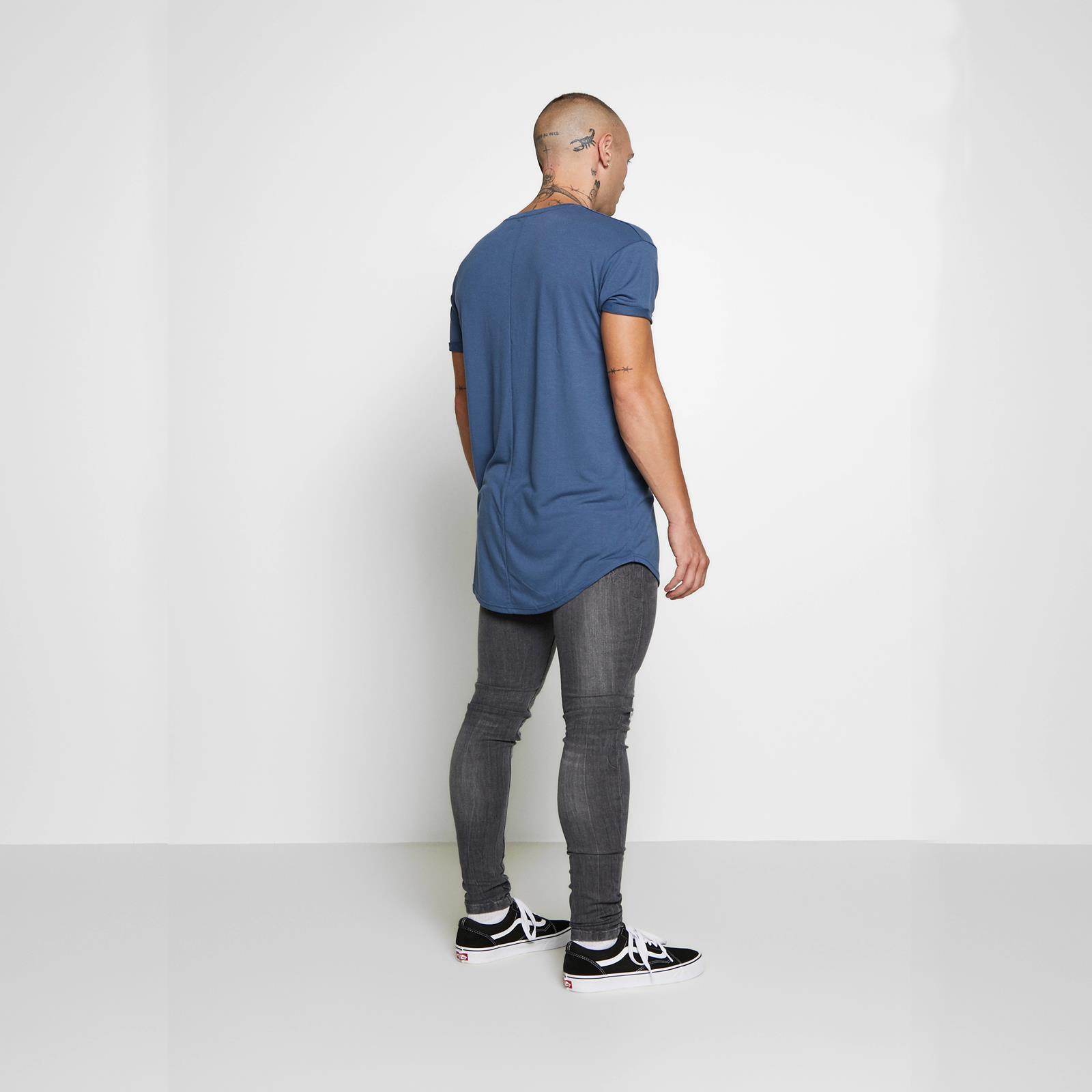 Mens Skinny Jeans Brave Soul Andre Stretch Distressed Black Wash Denim Pants