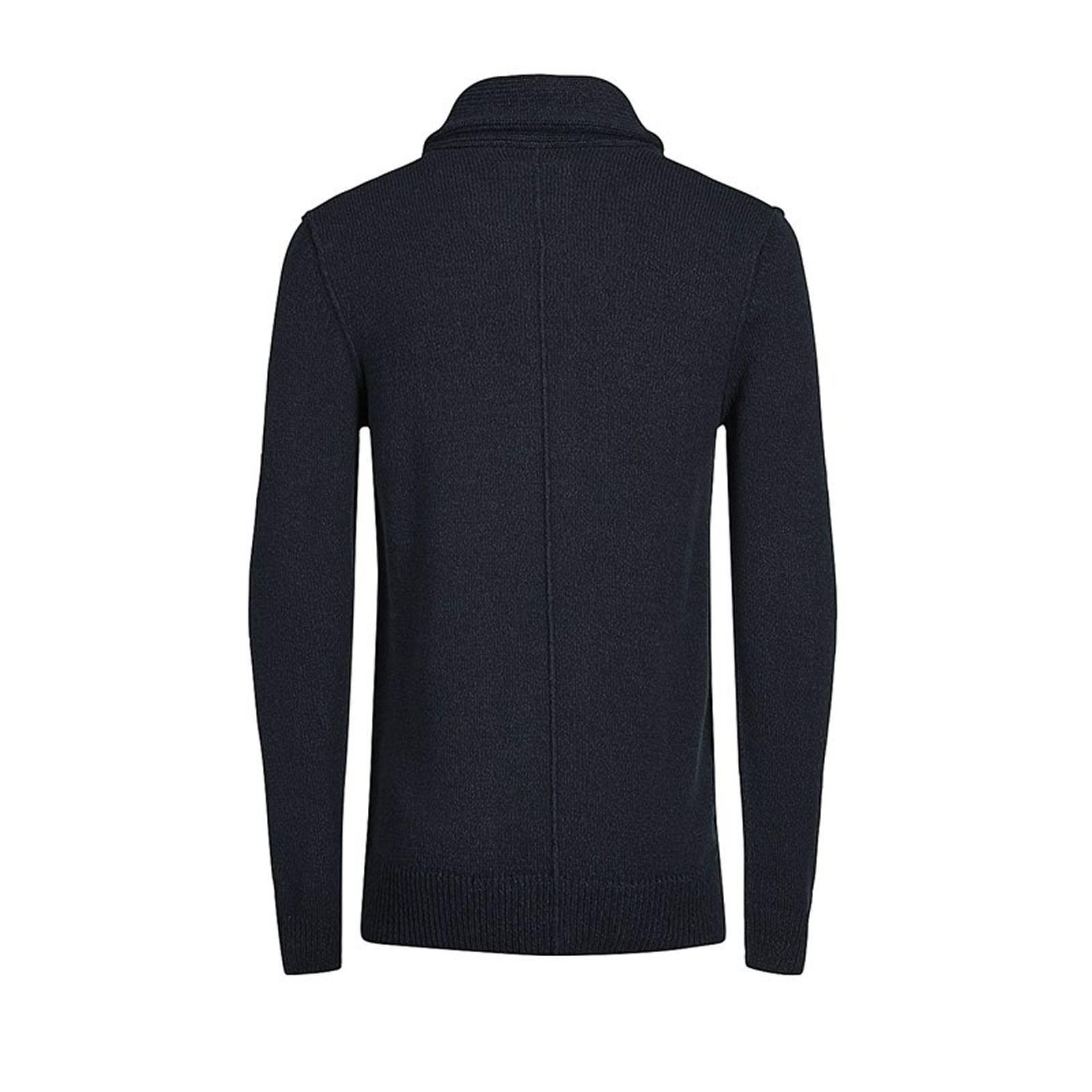 Mens Cardigan Jumper JACK /& JONES Inspect  Shawl Neck Button Up Sweater