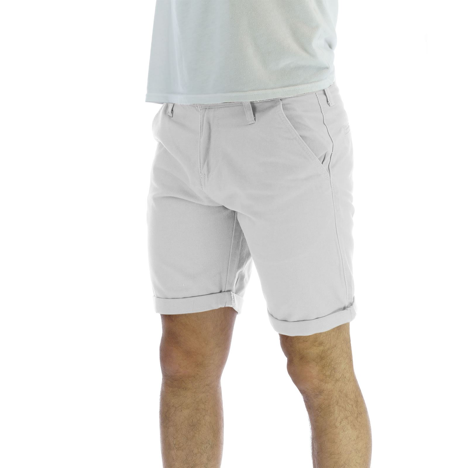 Mens Chino Shorts Brave Soul Smith Cotton Canvas Roll Up Summer Pants