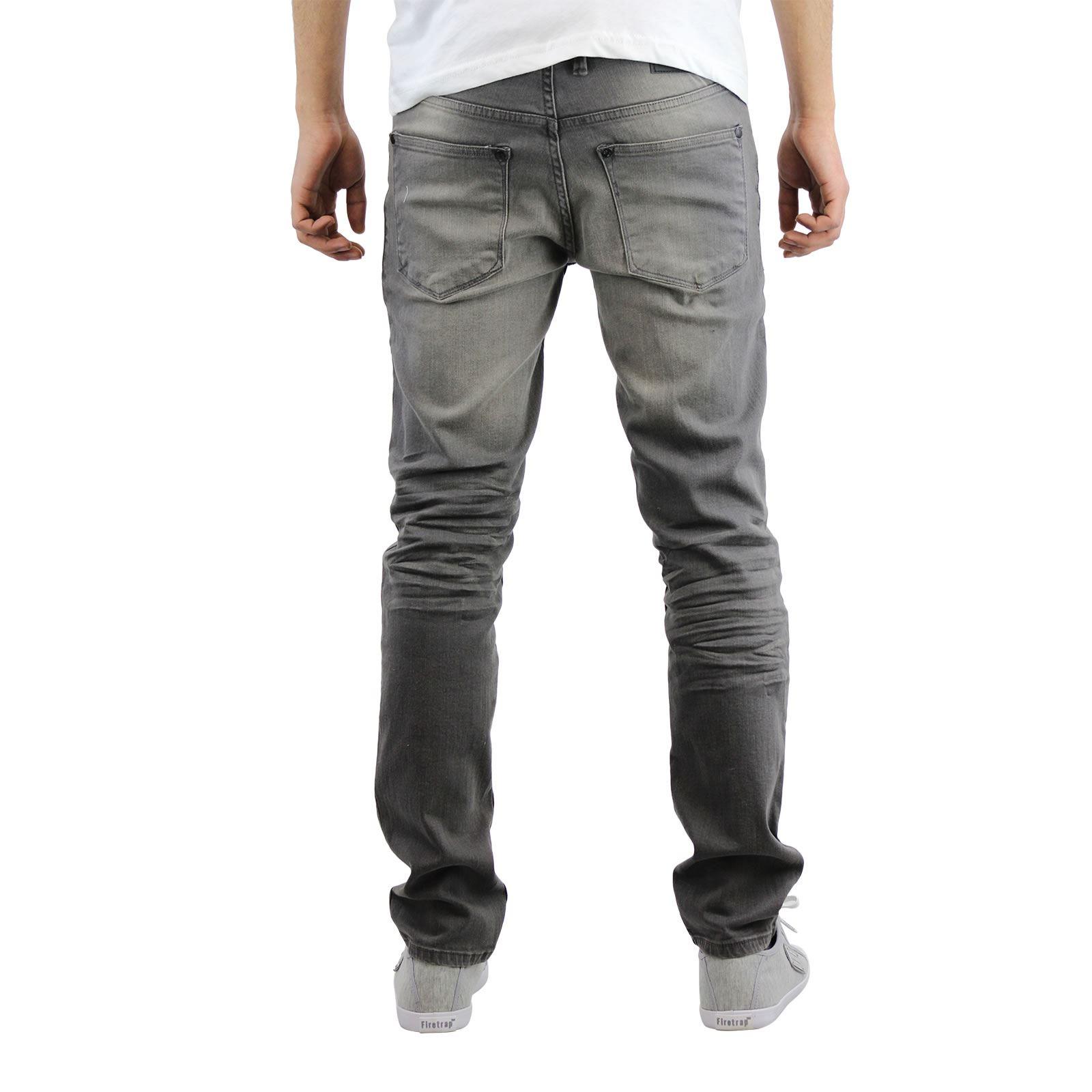 Crosshatch Jaco Mens Jeans Skinny Stretch Distressed Denim Pants