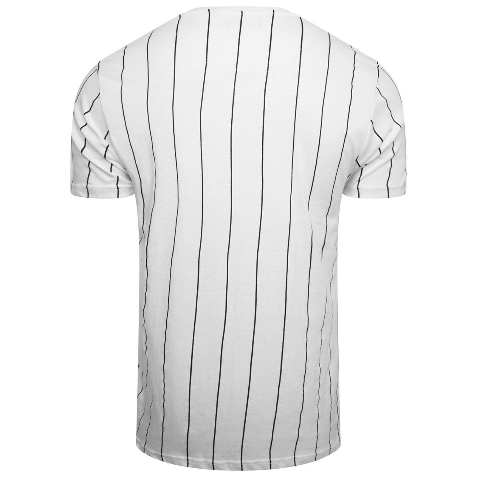 Mens T Shirt Brave Soul Stobart Crew Neck Short Sleeve Vertical Stripe Tee