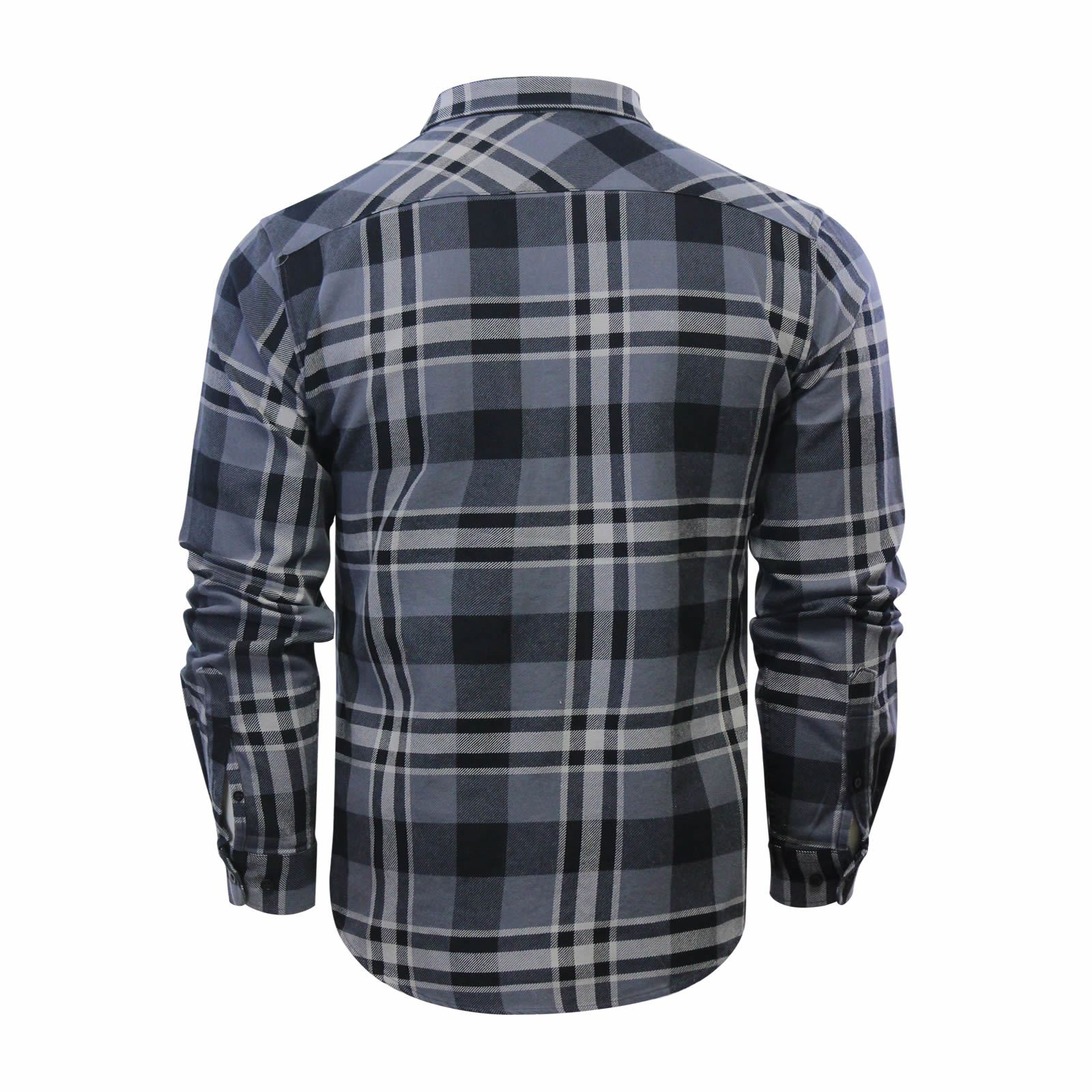 Mens Check Shirt Crosshatch Arizonica Flannel Brushed Cotton Long Sleeve