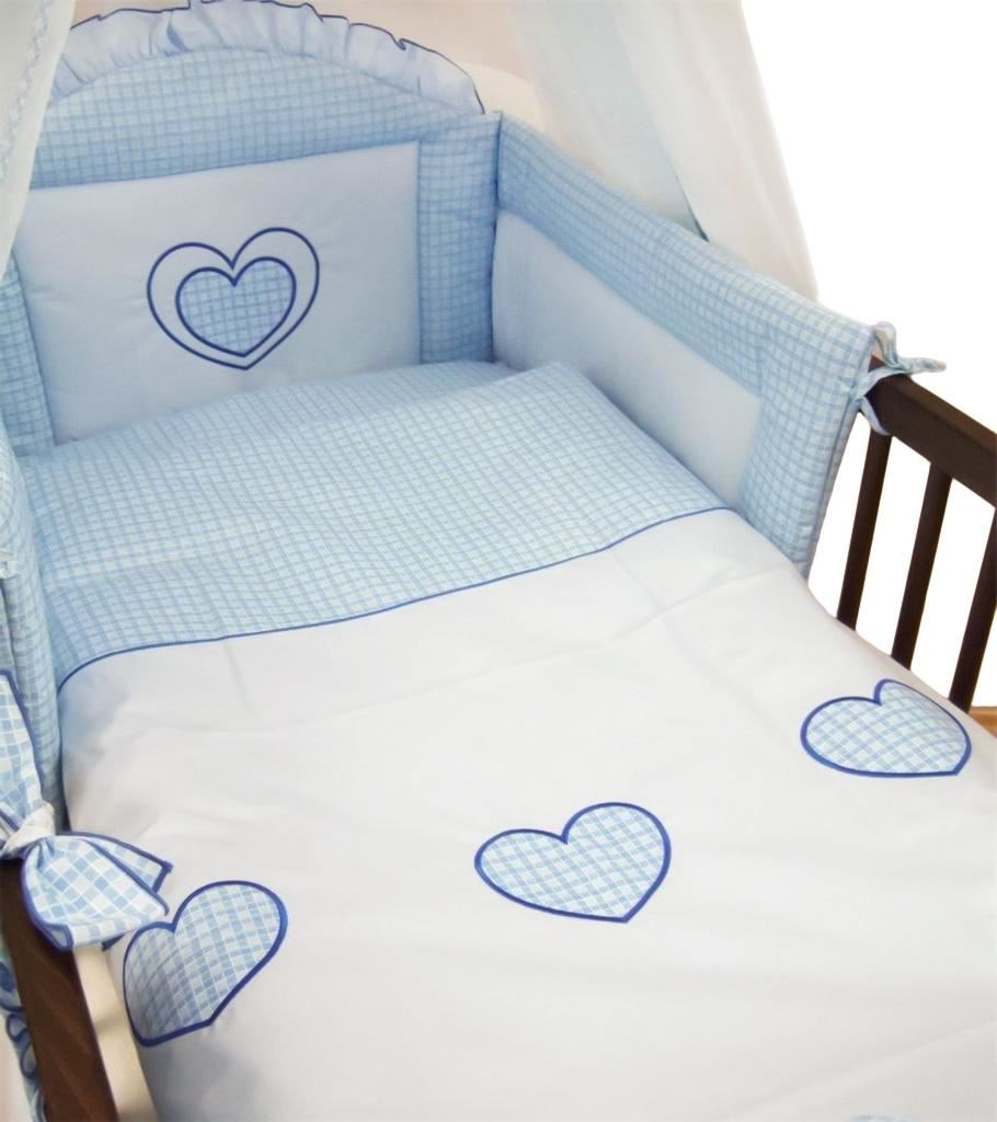 Sheet Set For Cot Cot Bed 6 Piece pcs Embroidered Baby Bedding Hearts