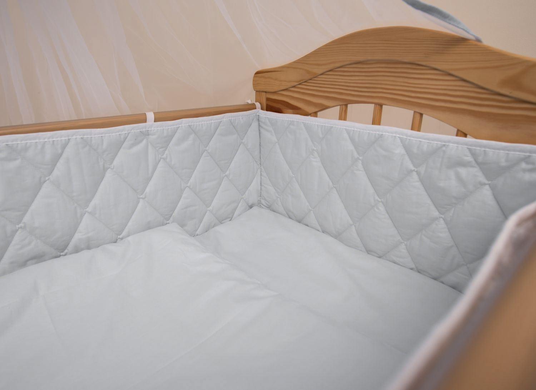 rundum groß Gitterbett Nestchen 4-seitig lang passt zu allen Baby Kinderbetten