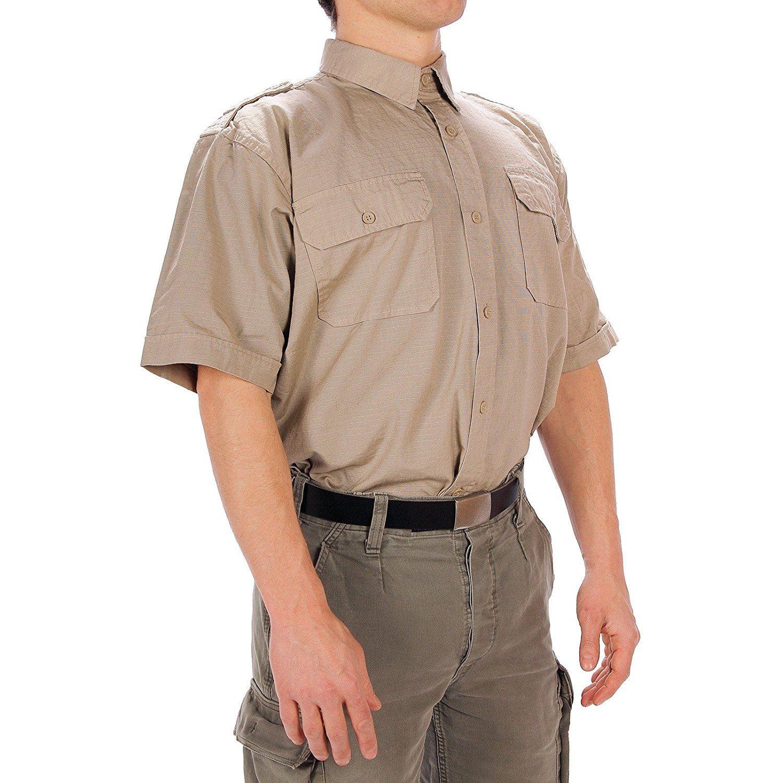 Mil-Tec à manches courtes Tropical Rip-stop Coton Travail Uniforme Desert Army shirt
