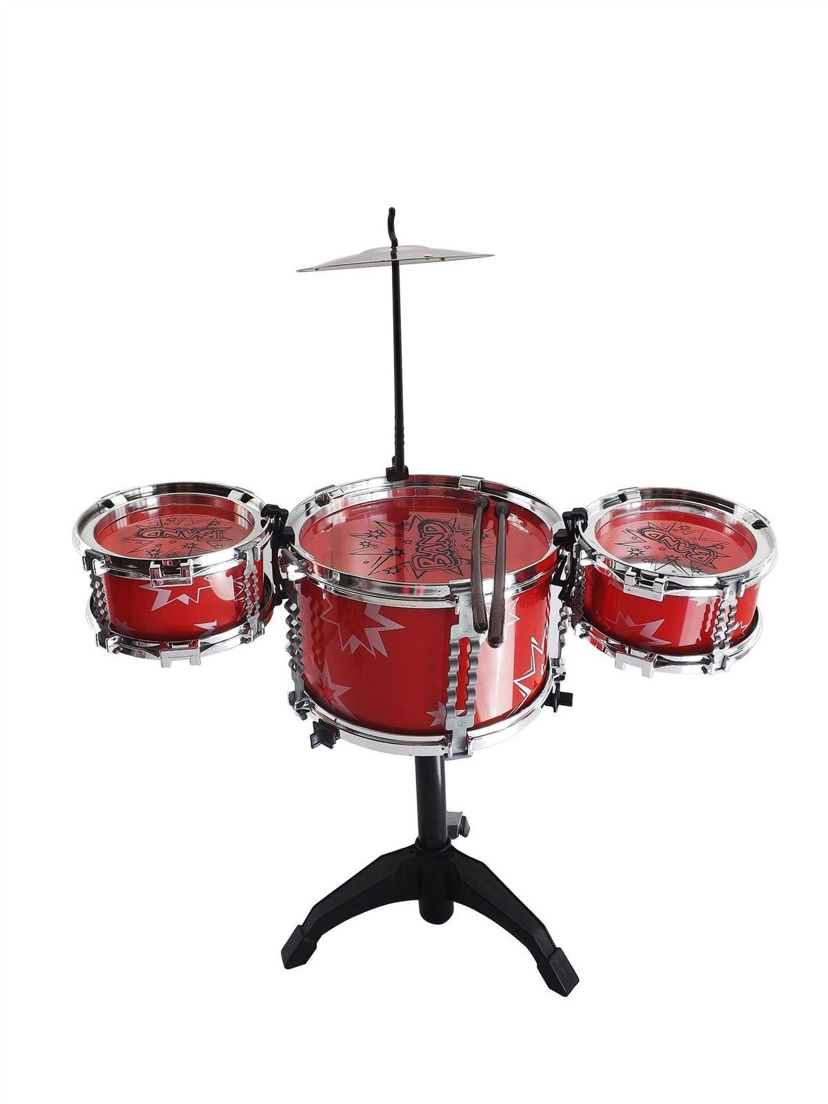 Big Band Enfants Bleu Rouge Tambour Percussion Musical Sound Playset Toy