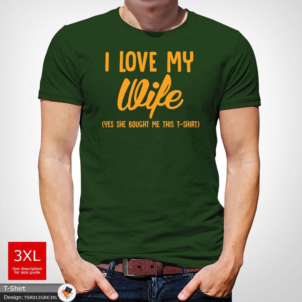 I Love My Wife Funny Idea Slogan Mens T-Shirt Fishing Husband Gift White