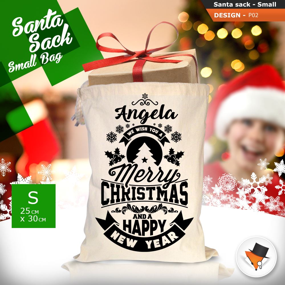 Personalised Vintage Santa Sack Rustic and beautiful designs and 100/% cotton