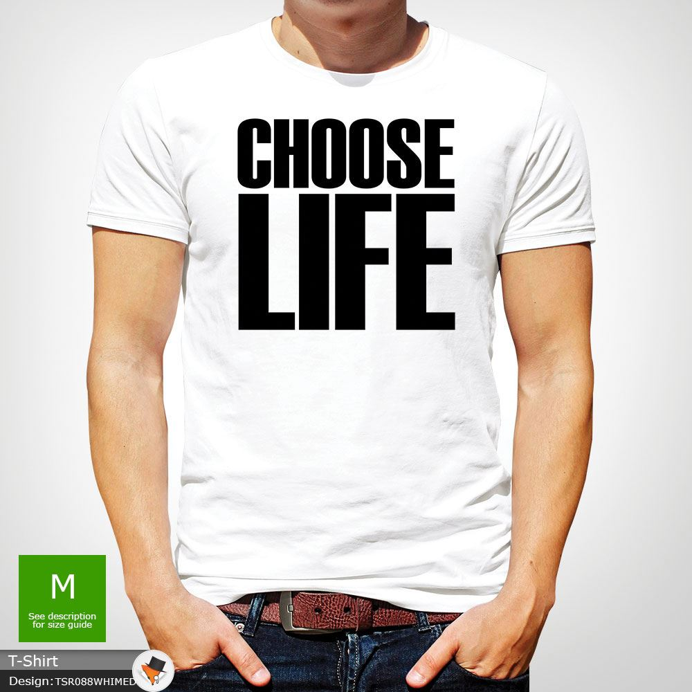 Choose Life T Shirt Wham Inspired Tee 80s Fancy Dress George Michael Green