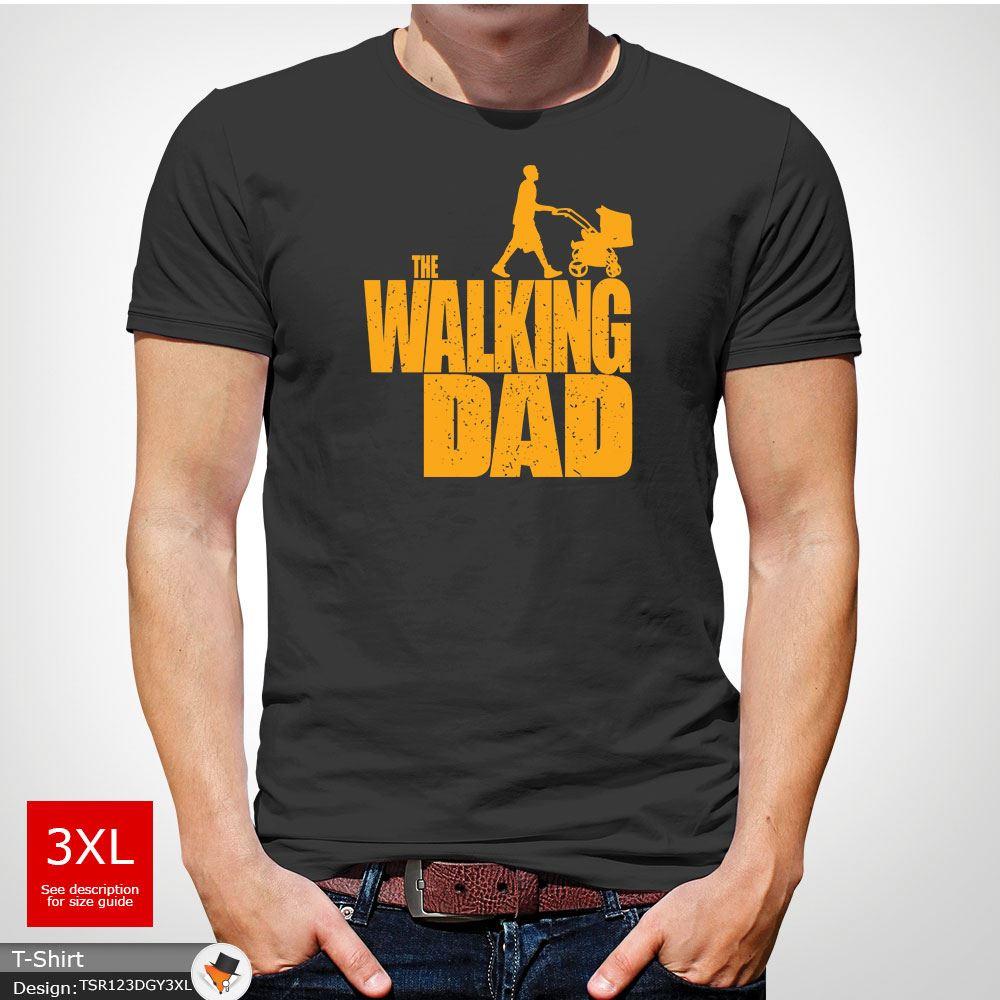 The Walking PAPA Parodie père fils Pères Jour Homme T-shirt de Noël de Noël Blanc