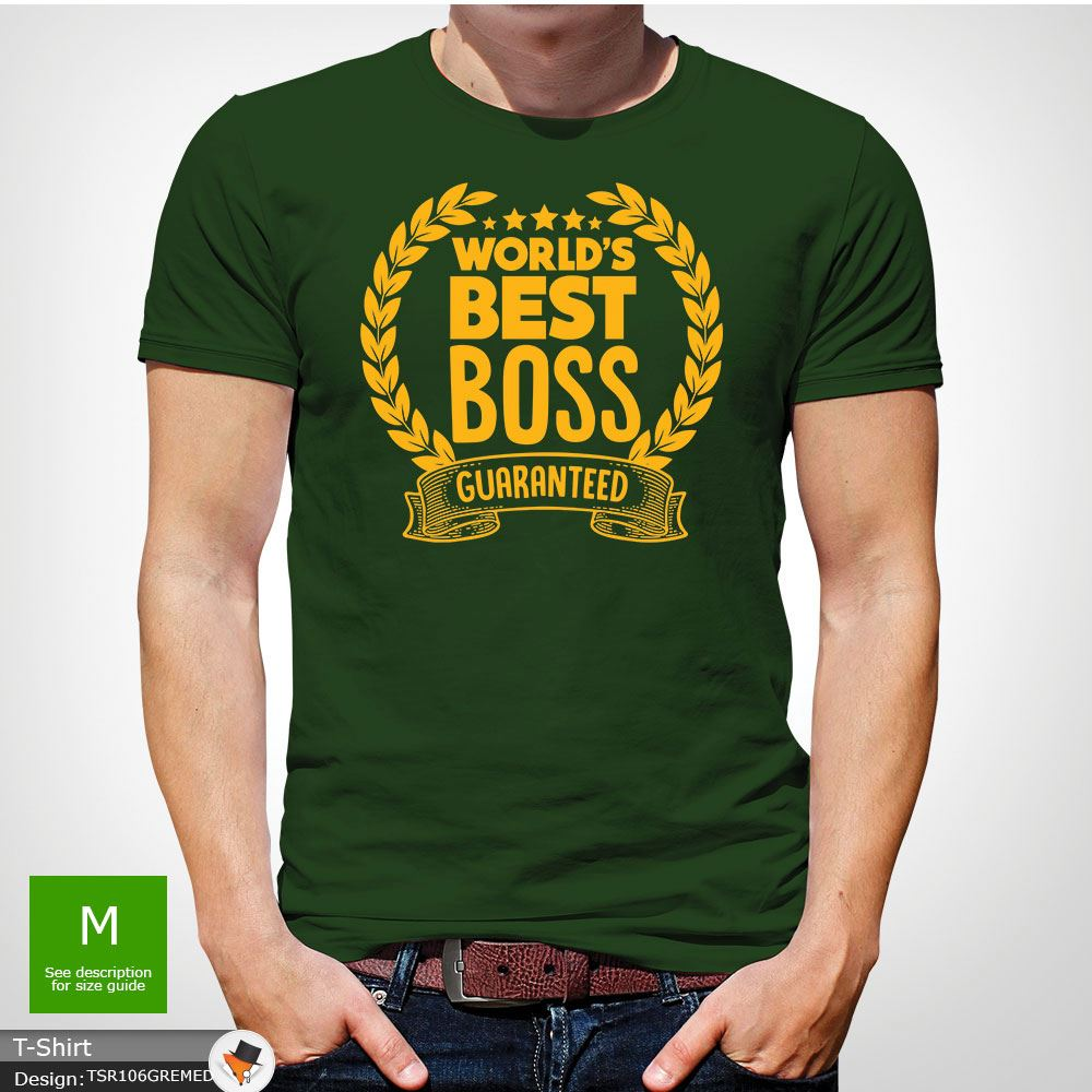 World/'s Greatest BOSS meilleurs employeur Drôle Hommes T-Shirt Cadeau D/'anniversaire blanc