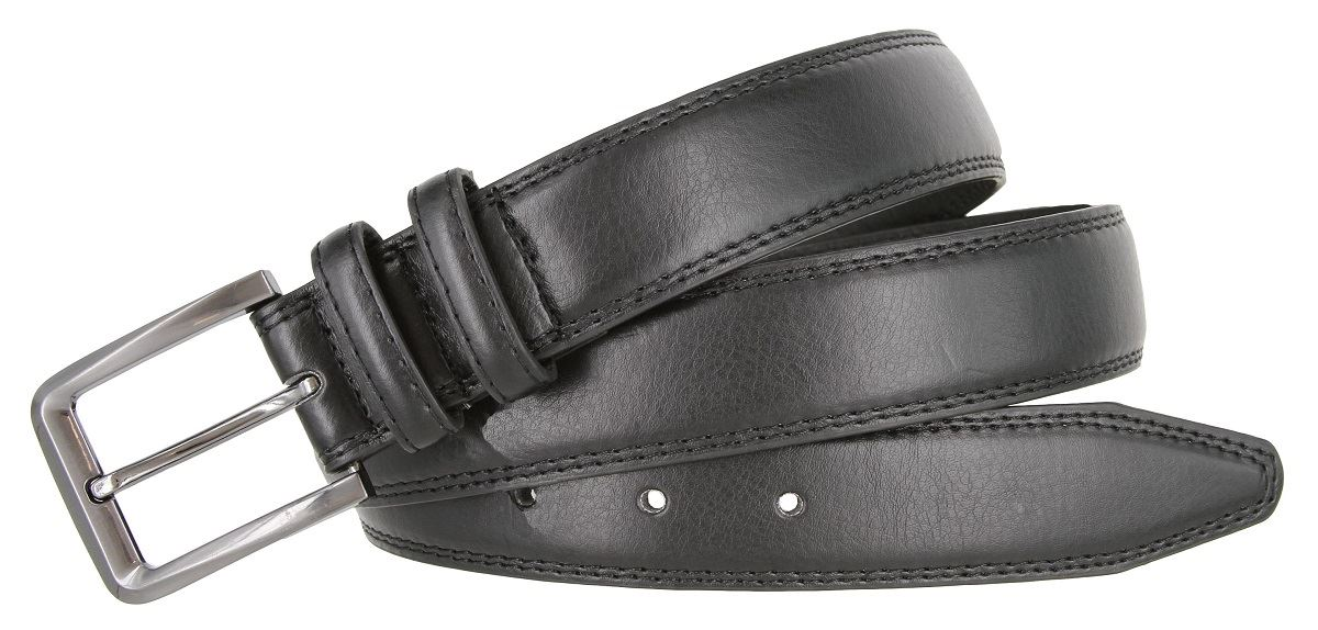 "35mm Men/'s Genuine Leather Casual Dress Belt 1-3//8/"" Wide Gun Metal Buckle"