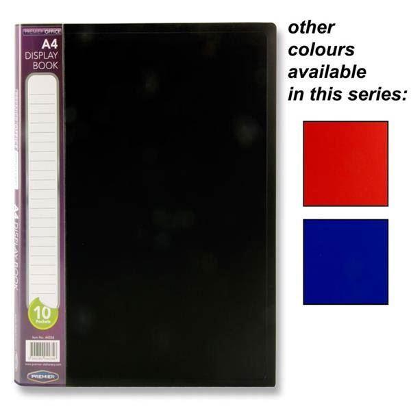 *OFFER* Premier Black Cover Clear Pocket Presentation Spine Display Folder Books