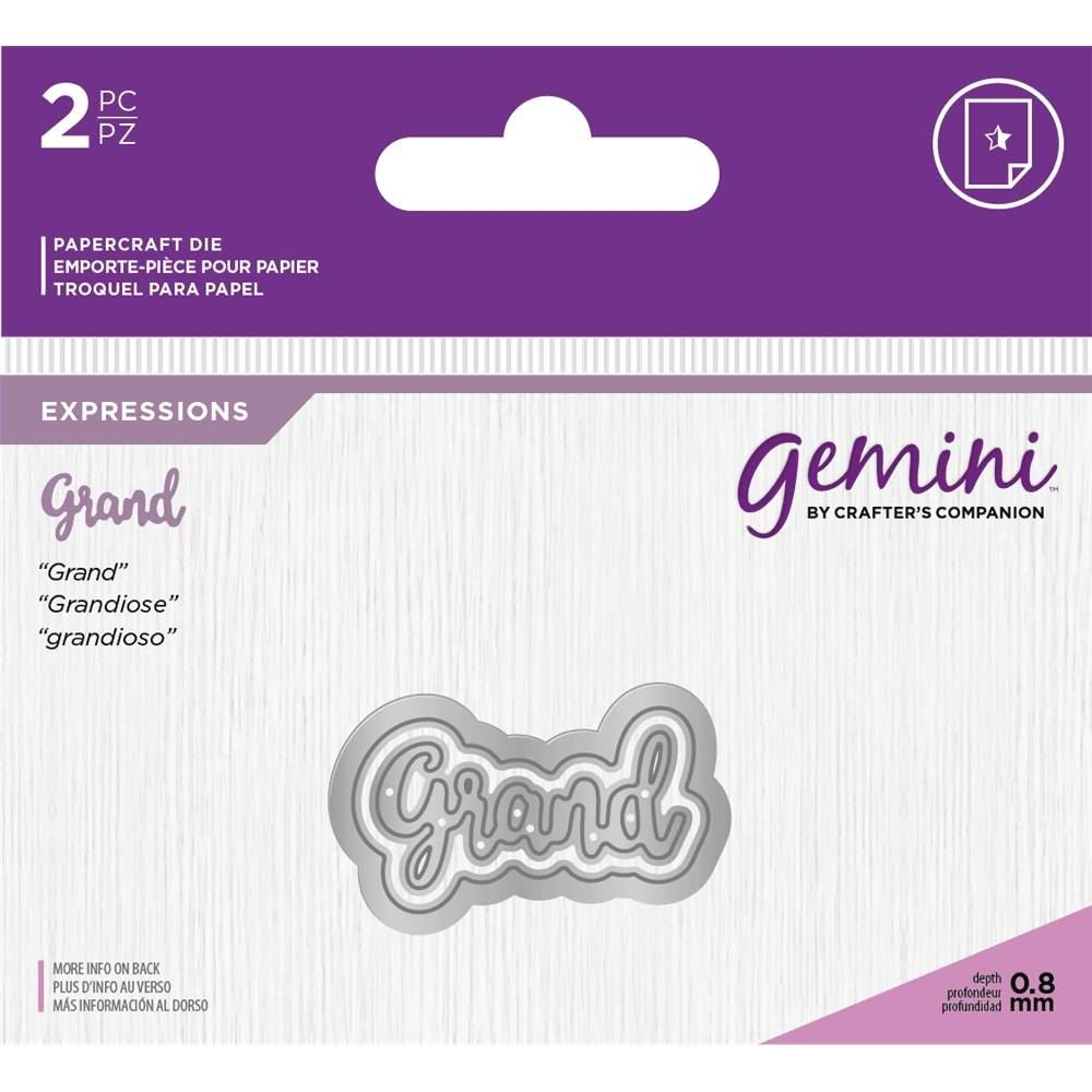 *OFFER* Gemini Essentials Only Mini Words Text Collection Craft Cutting Dies!