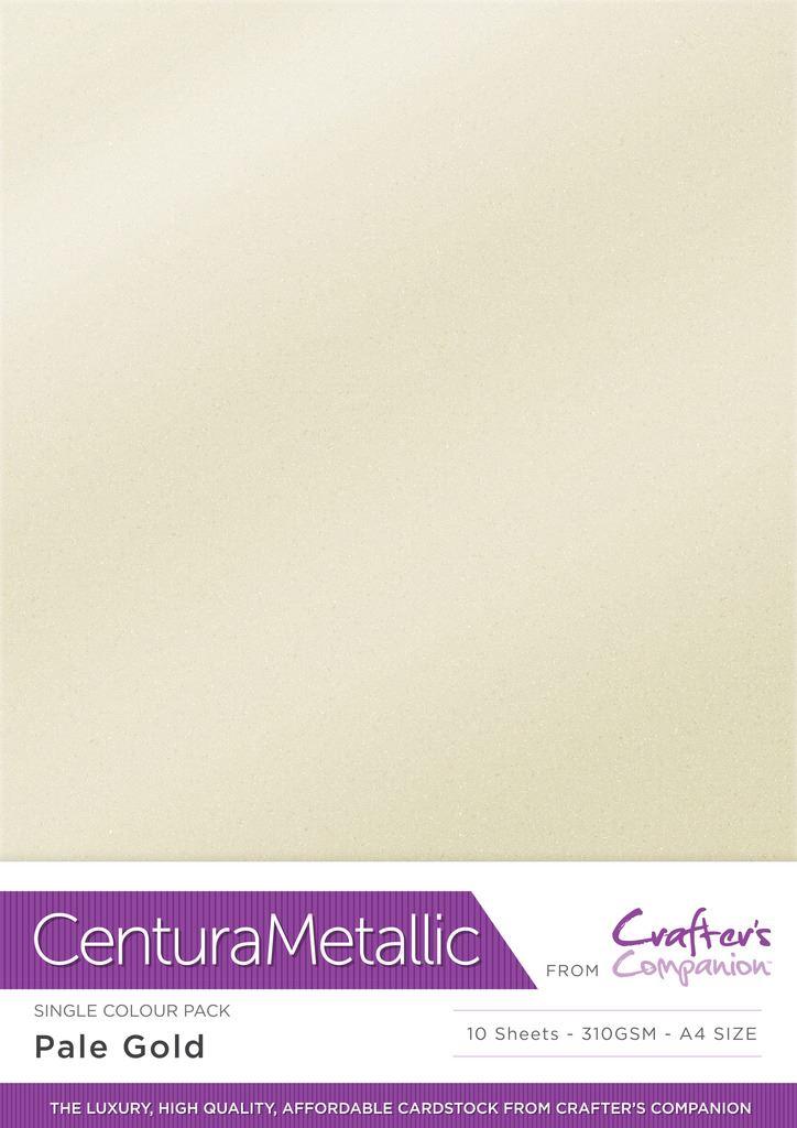 * OFRECER Crafter/'s Companion Centura Metálico A4 paquete de tarjeta de arte-Gama Completa