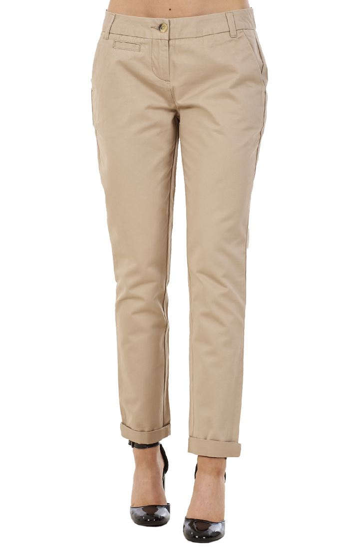 Ladies 100/% Cotton Rich Womens Chino Womens Casual Trousers