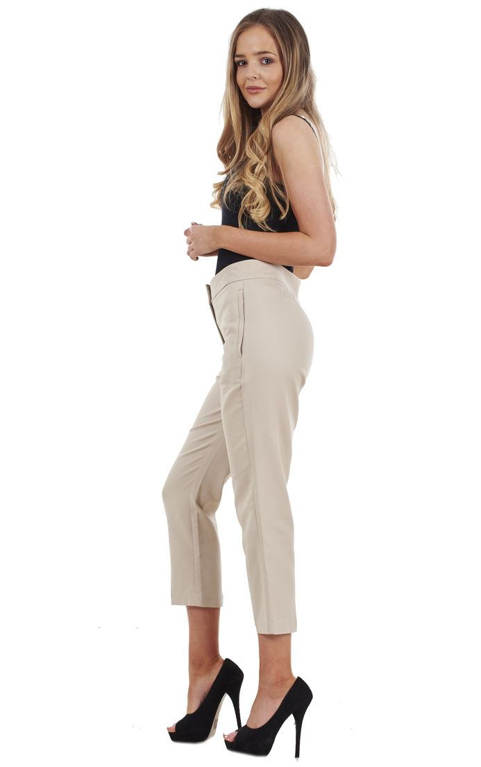 Ladies Cotton Rich Cropped Pants 3//4 Length Capri Summer Trousers