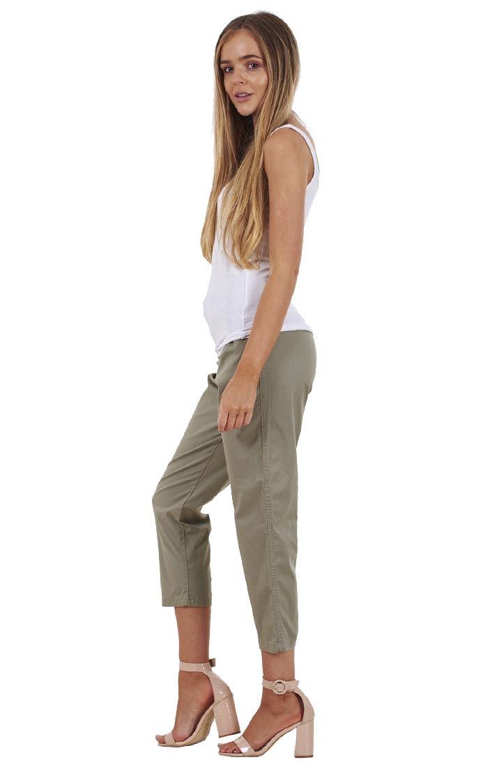 Femmes Pantalon Holiday Crop Stretch D/'été De 3//4 Capri Pantalon